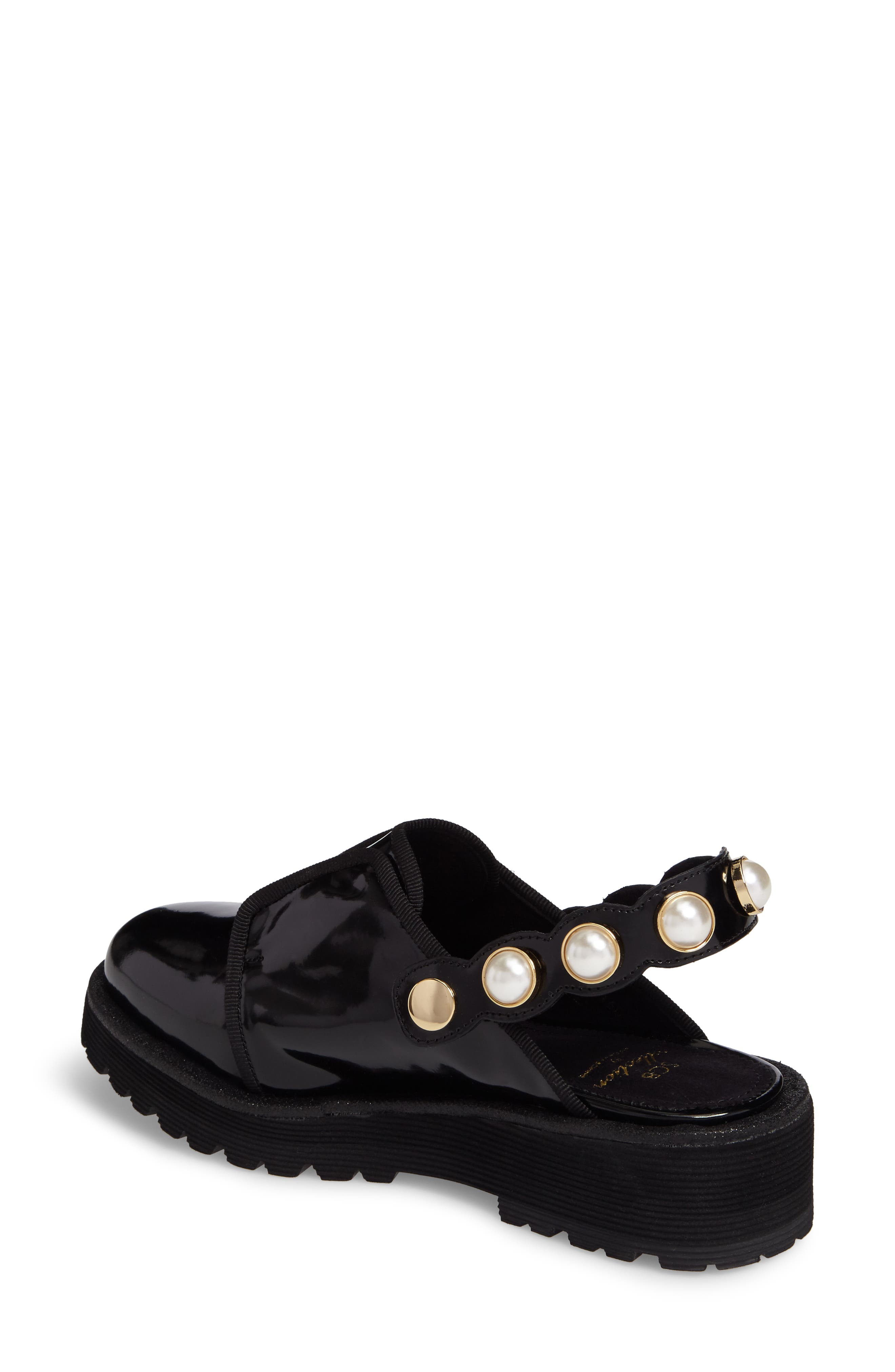 Embellished Slingback Oxford,                             Alternate thumbnail 2, color,                             Black