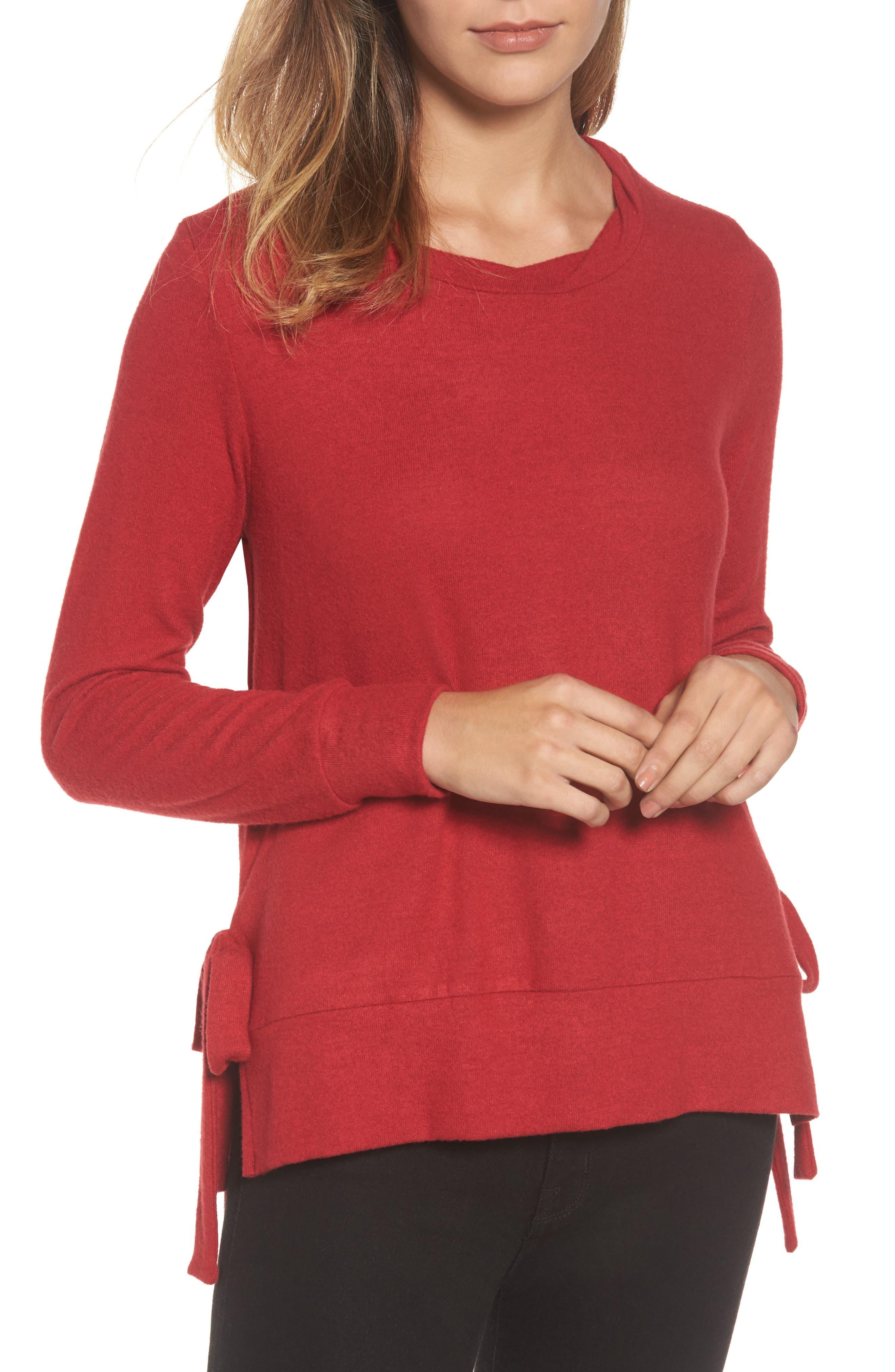 Gibson Side-Tie Fleece Pullover