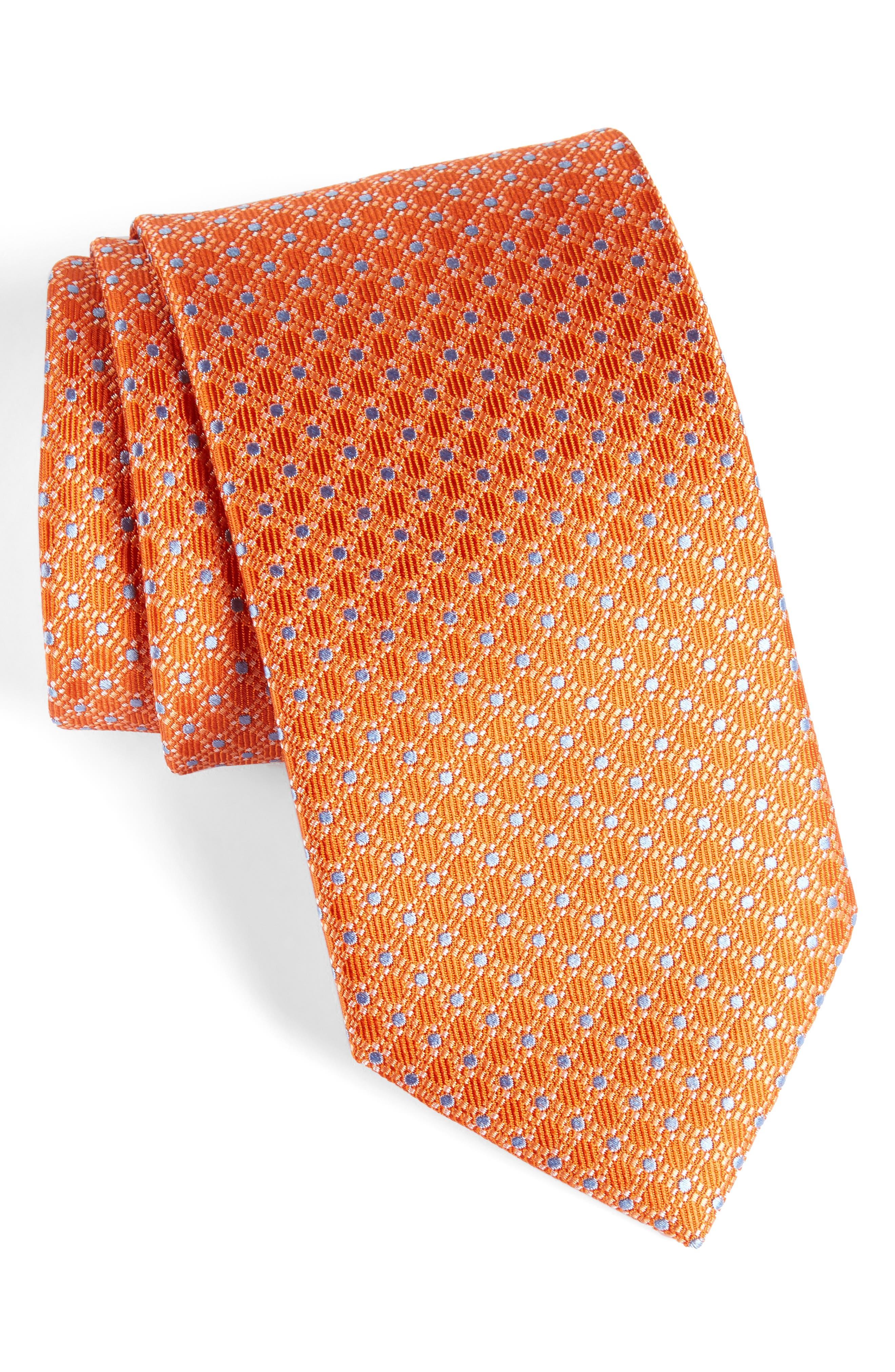 Alternate Image 1 Selected - David Donahue Neat Silk Tie