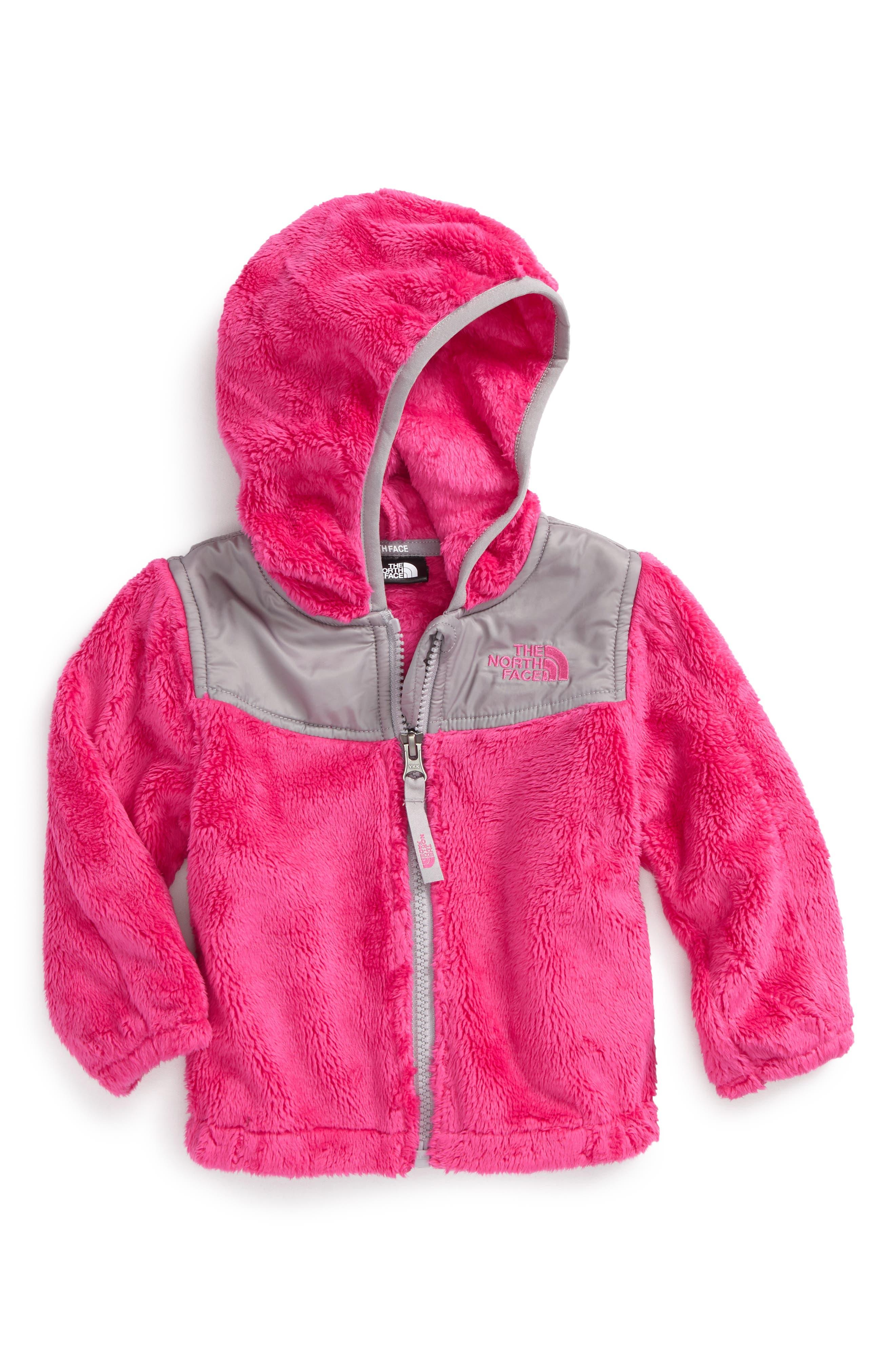 'Oso' Fleece Hooded Jacket,                         Main,                         color, Petticoat Pink