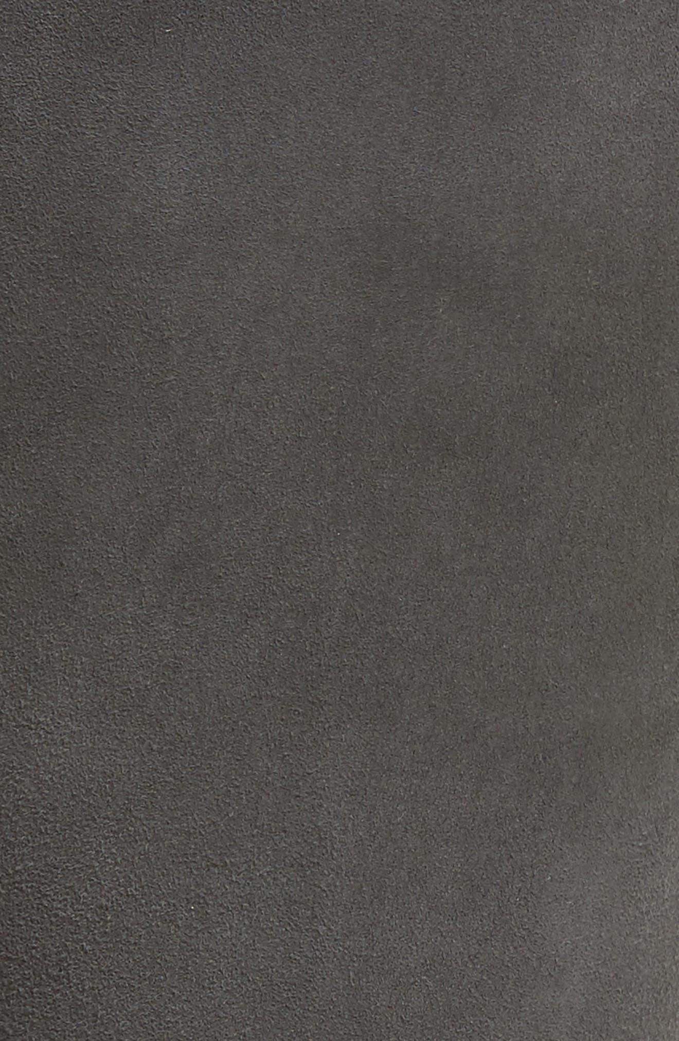The Legging Super Skinny Suede Pants,                             Alternate thumbnail 5, color,                             Dark Slate