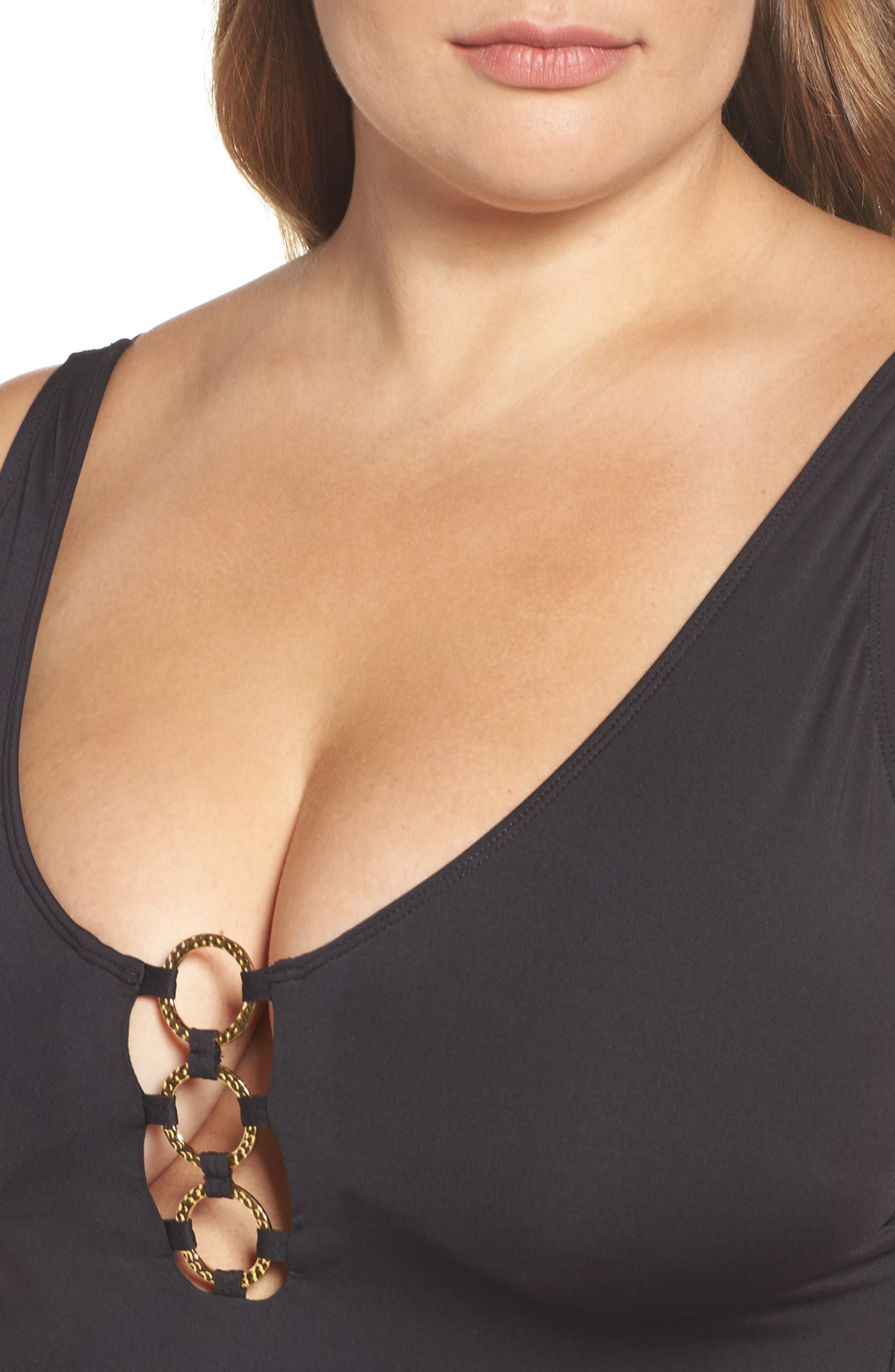 Alternate Image 4  - Tommy Bahama Pearl One-Piece Swimsuit (Plus Size) (Nordstrom Exclusive)