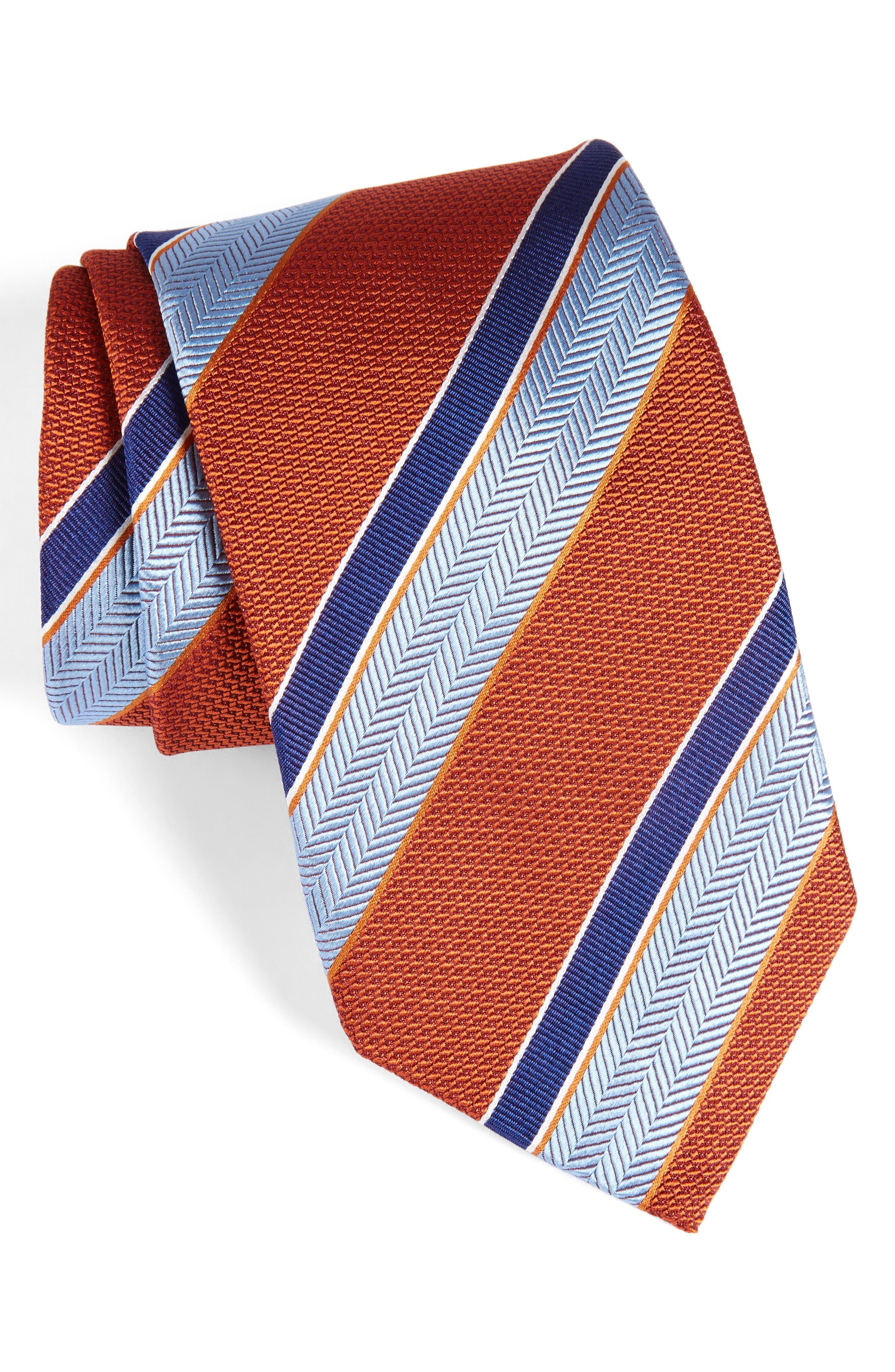Alternate Image 1 Selected - David Donahue Stripe Silk Tie