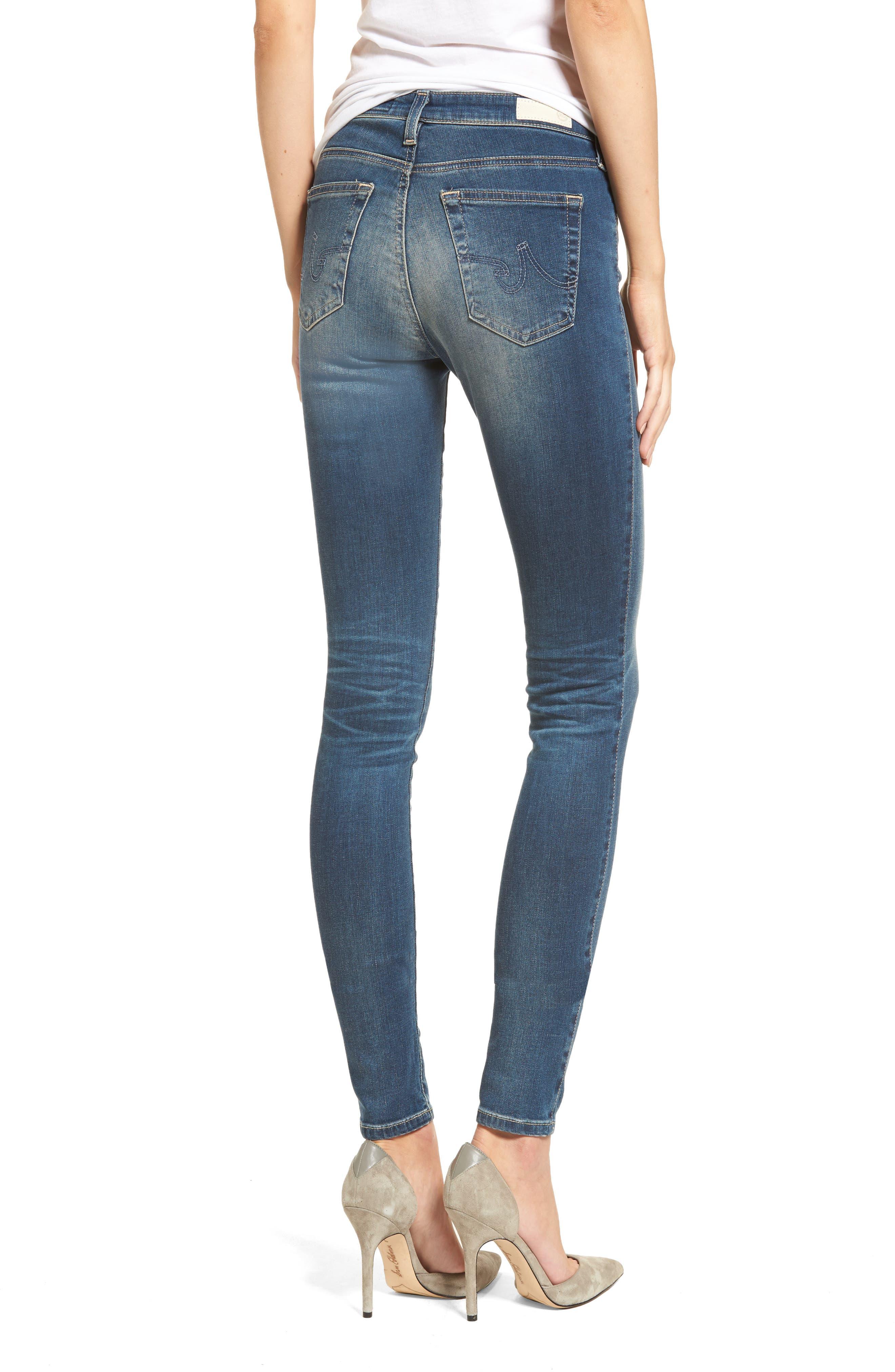 Alternate Image 2  - AG The Legging Super Skinny Jeans (12 Years Abide)