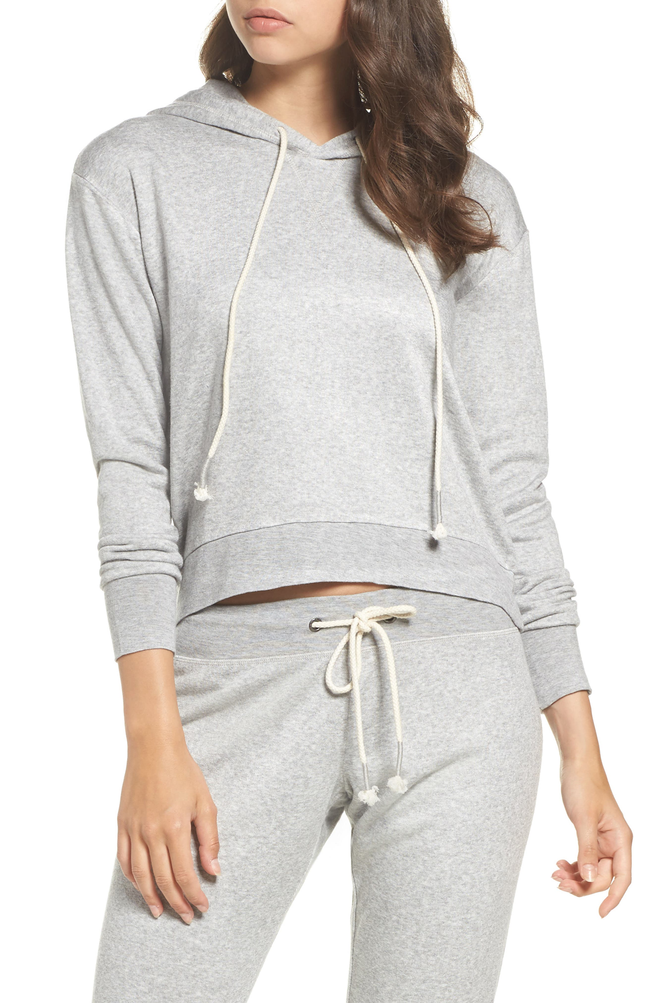 Dreamy Fleece Hoodie,                         Main,                         color, Grey Heather
