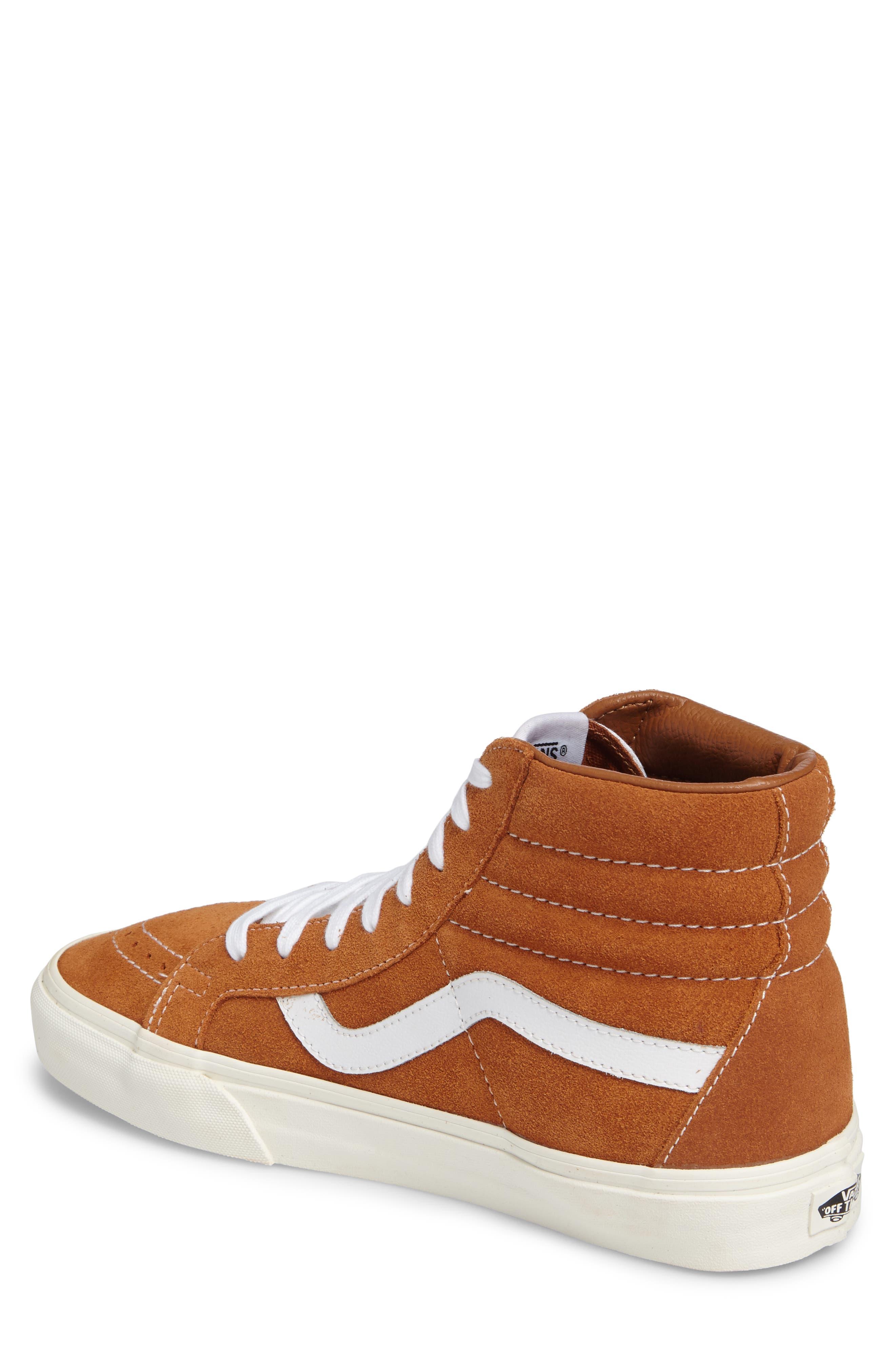 Sk8-Hi Reissue Sneaker,                             Alternate thumbnail 2, color,                             Glazed Ginger Suede