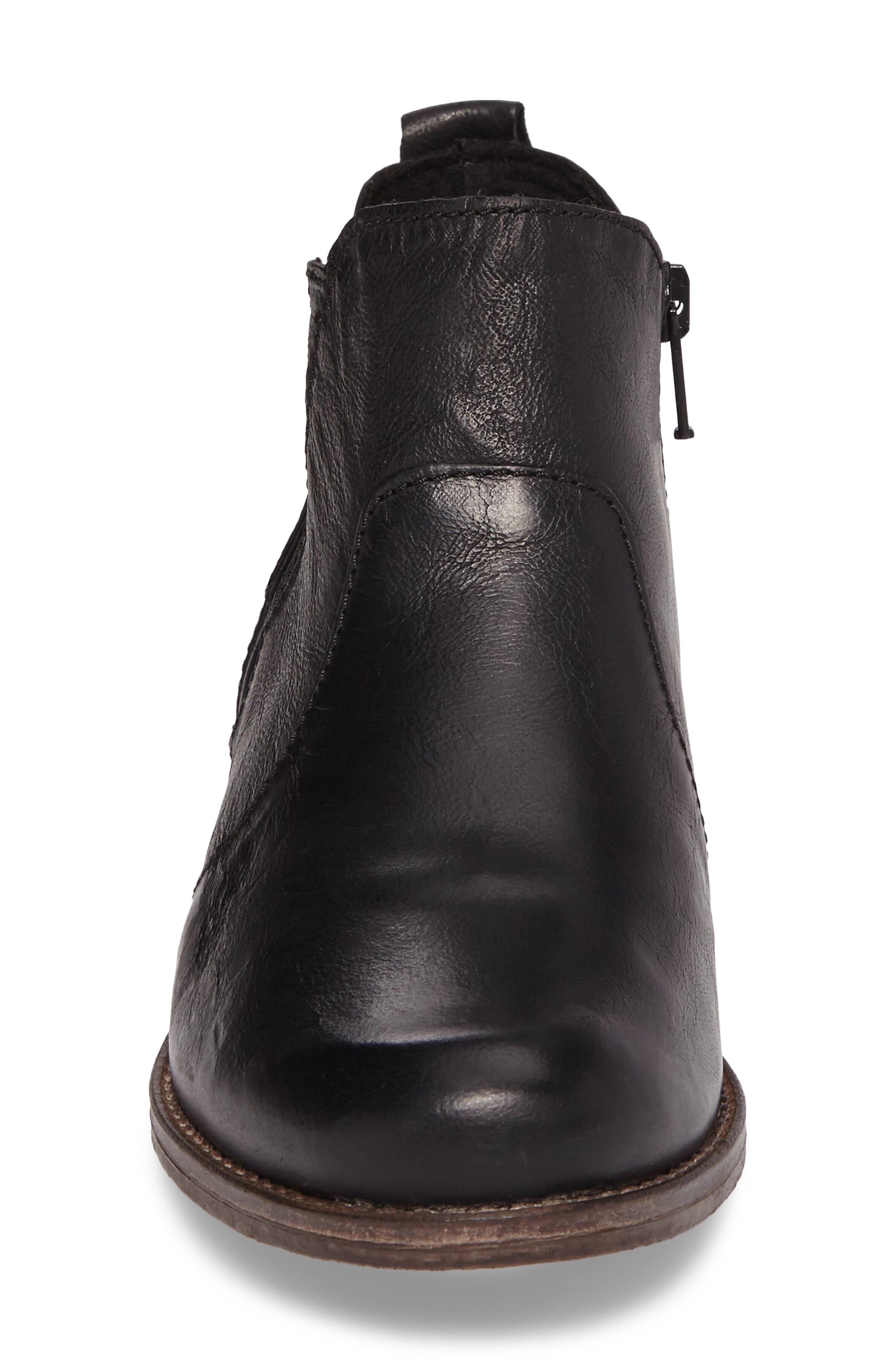 Sienna 45 Chelsea Bootie,                             Alternate thumbnail 4, color,                             Black Leather