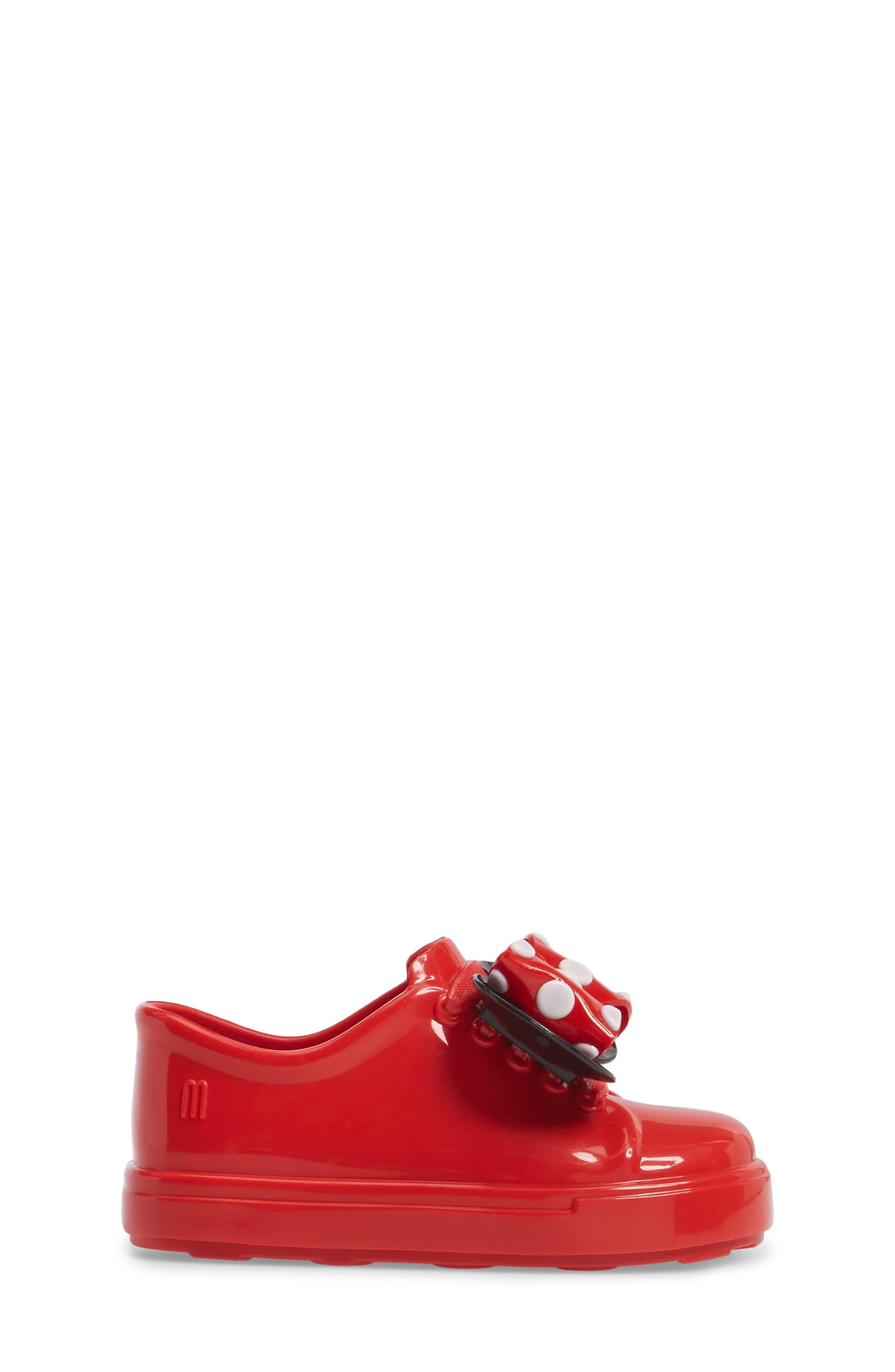 Mini Melissa Disney<sup>®</sup> Be Minnie Slip-On Sneaker,                             Alternate thumbnail 3, color,                             Black/ Bordeaux