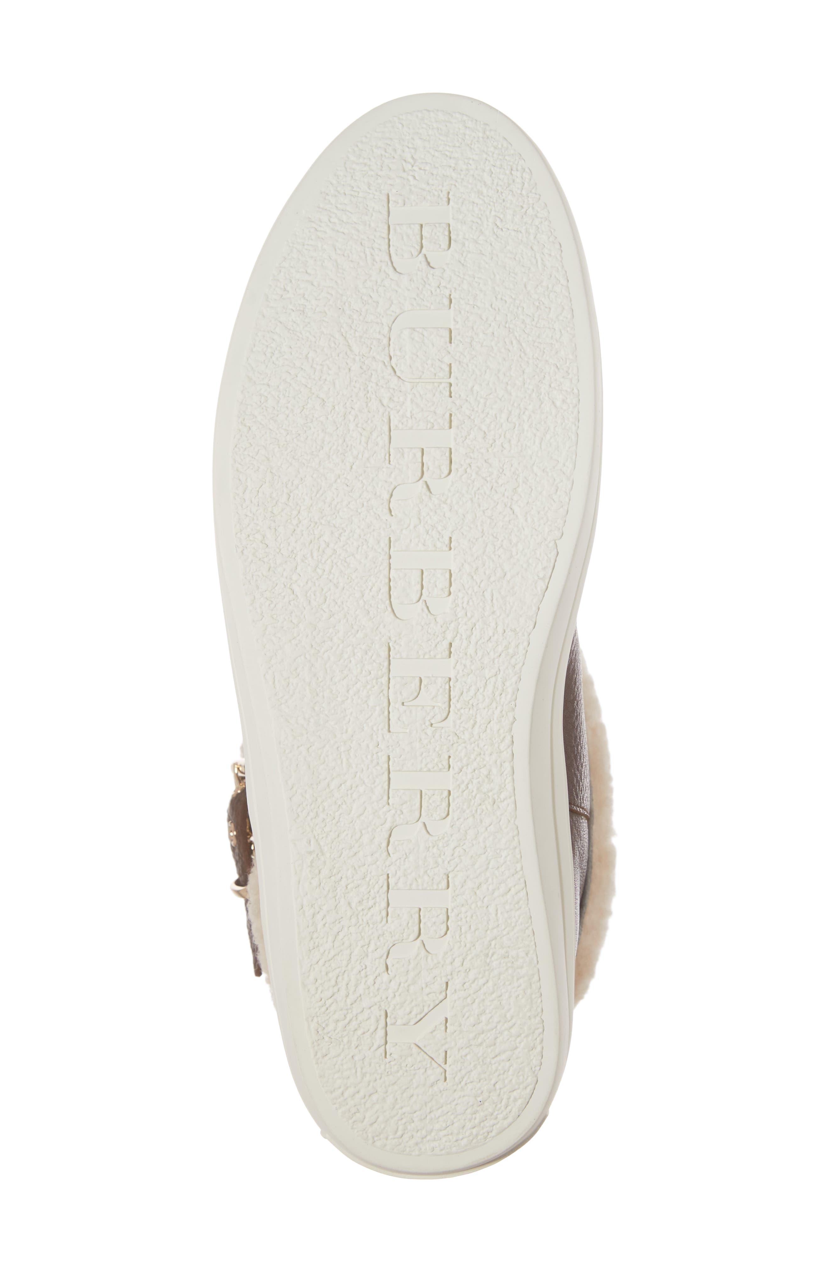Alternate Image 6  - Burberry Genuine Shearling Boot (Women)