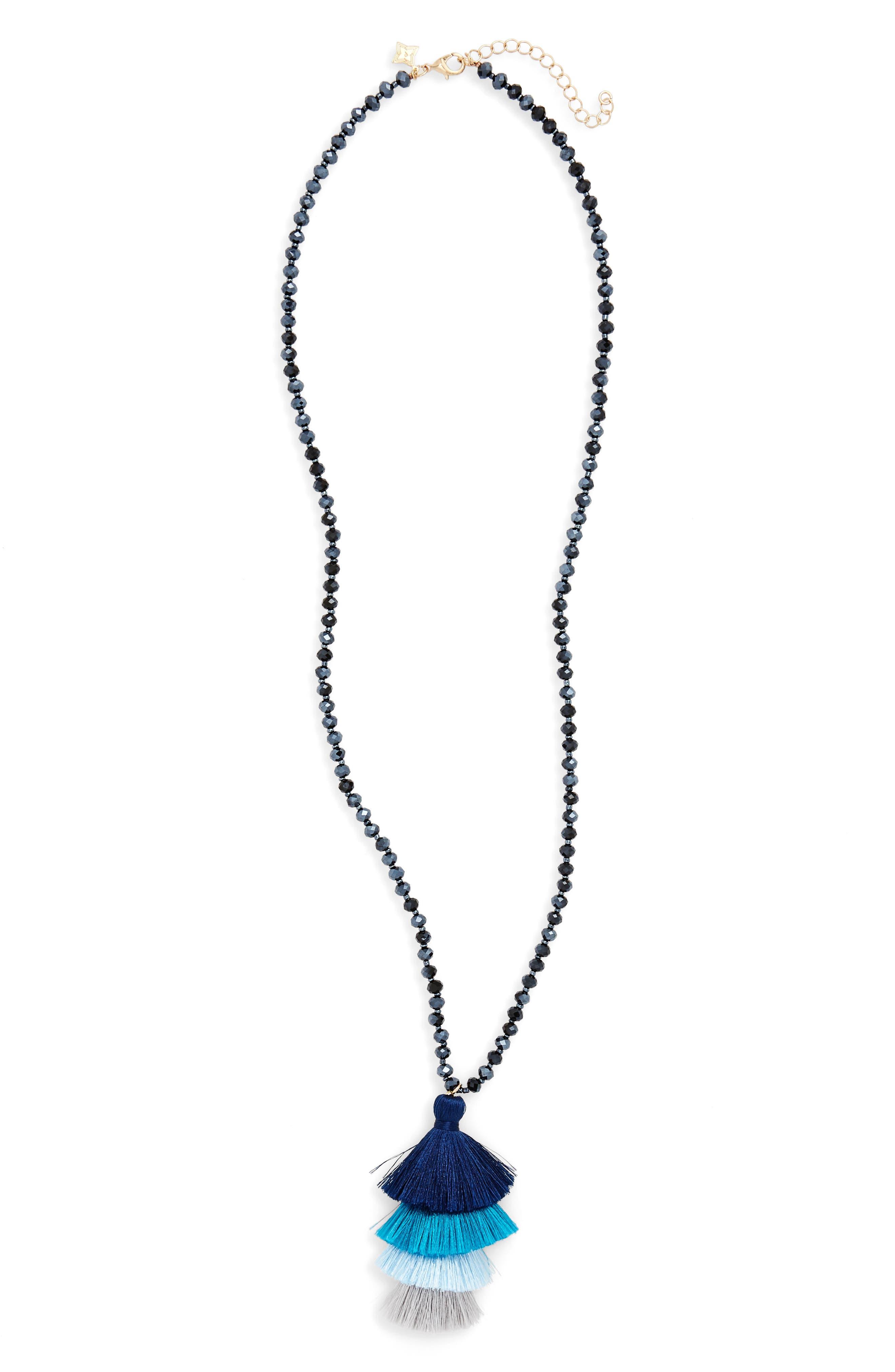 Panacea Stacked Tassel Necklace