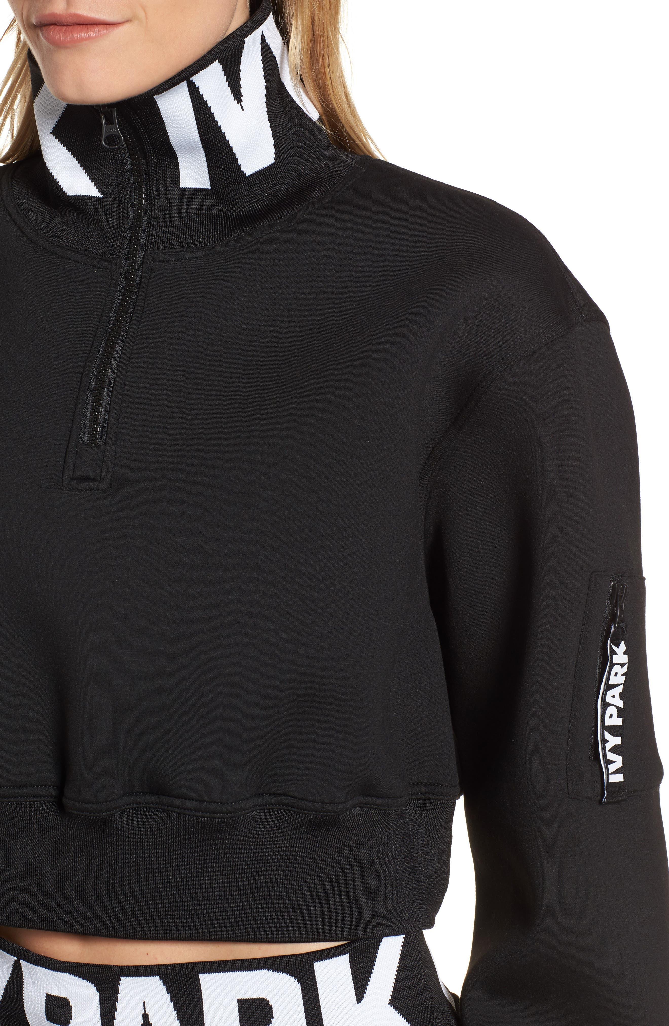 Alternate Image 3  - IVY PARK® Logo Quarter Zip Funnel Sweatshirt
