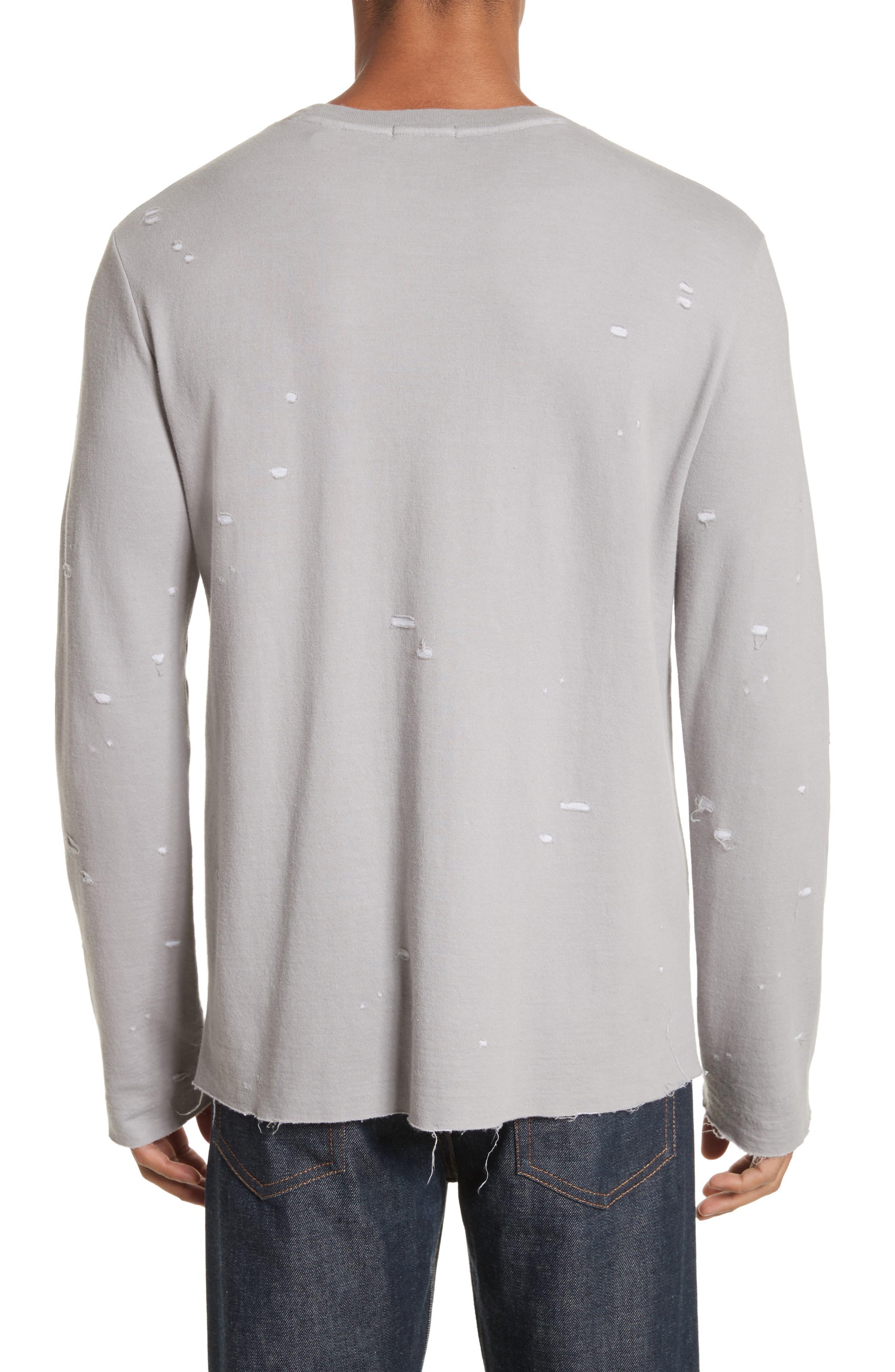 Long Sleeve T-Shirt,                             Alternate thumbnail 2, color,                             Grey