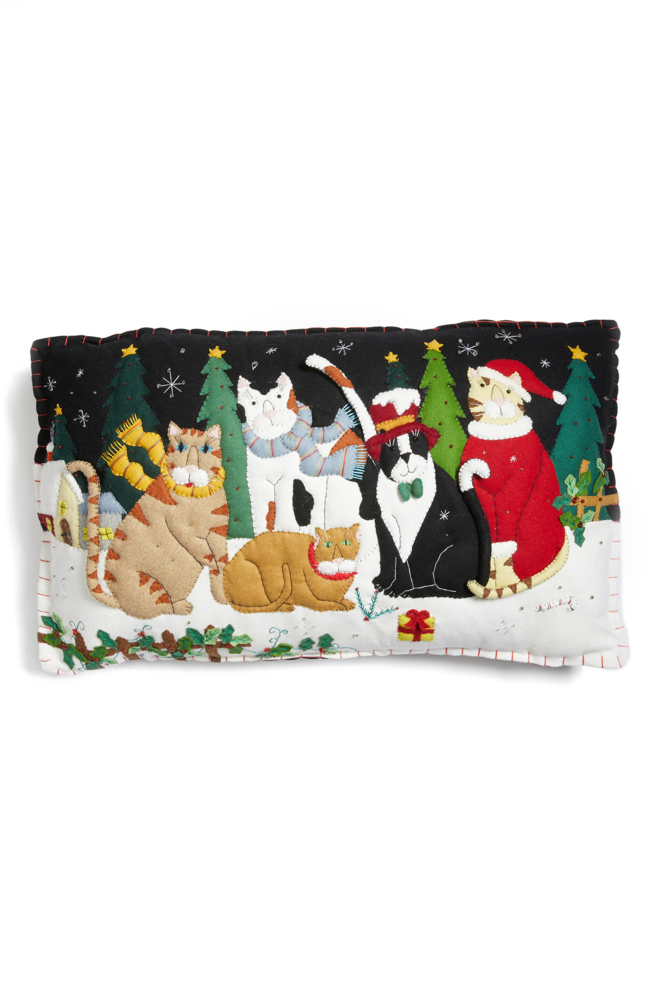 New World Arts Two Snowman Pillow