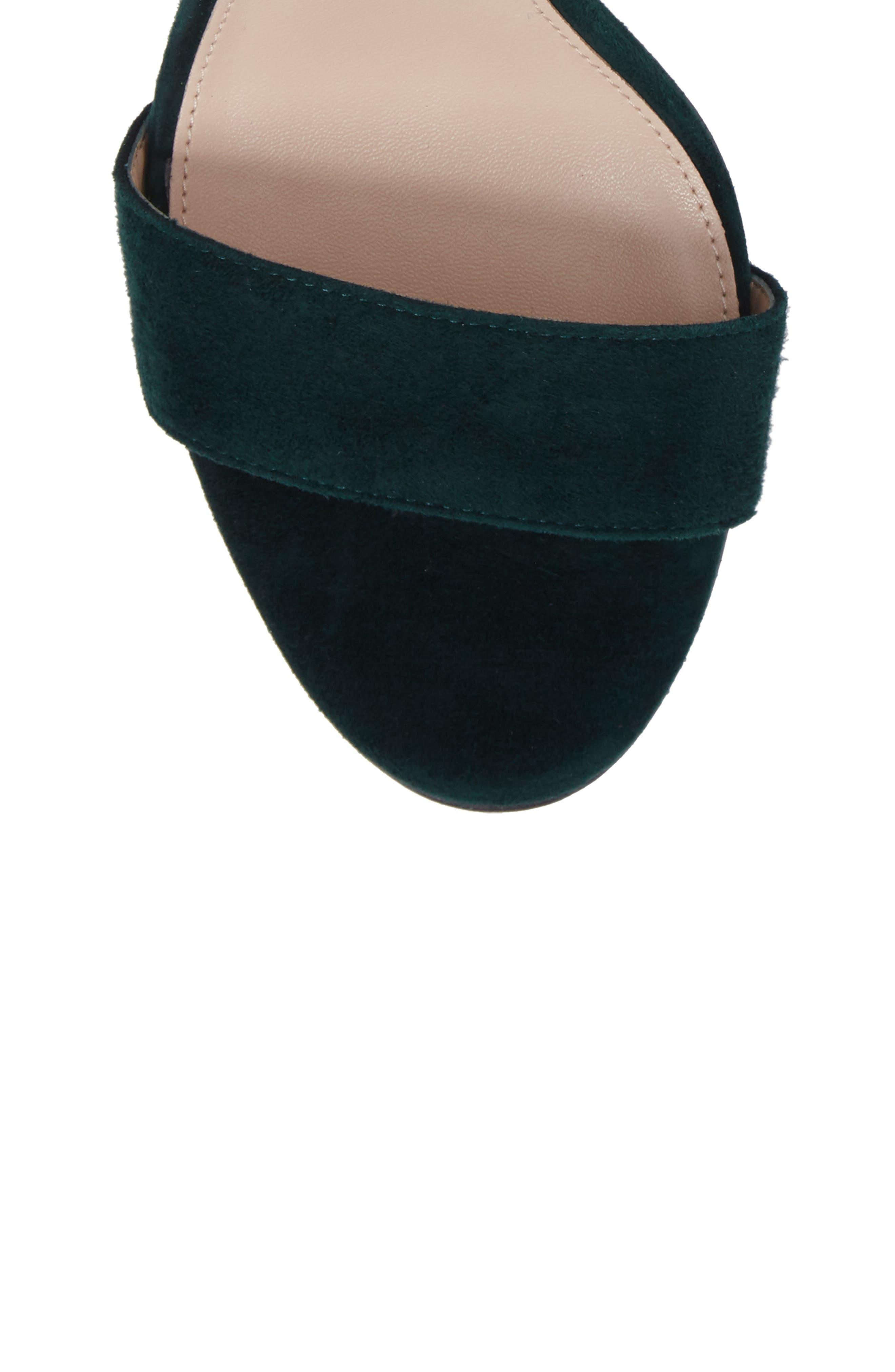 Bonnie Ankle Strap Sandal,                             Alternate thumbnail 5, color,                             Forest Leather