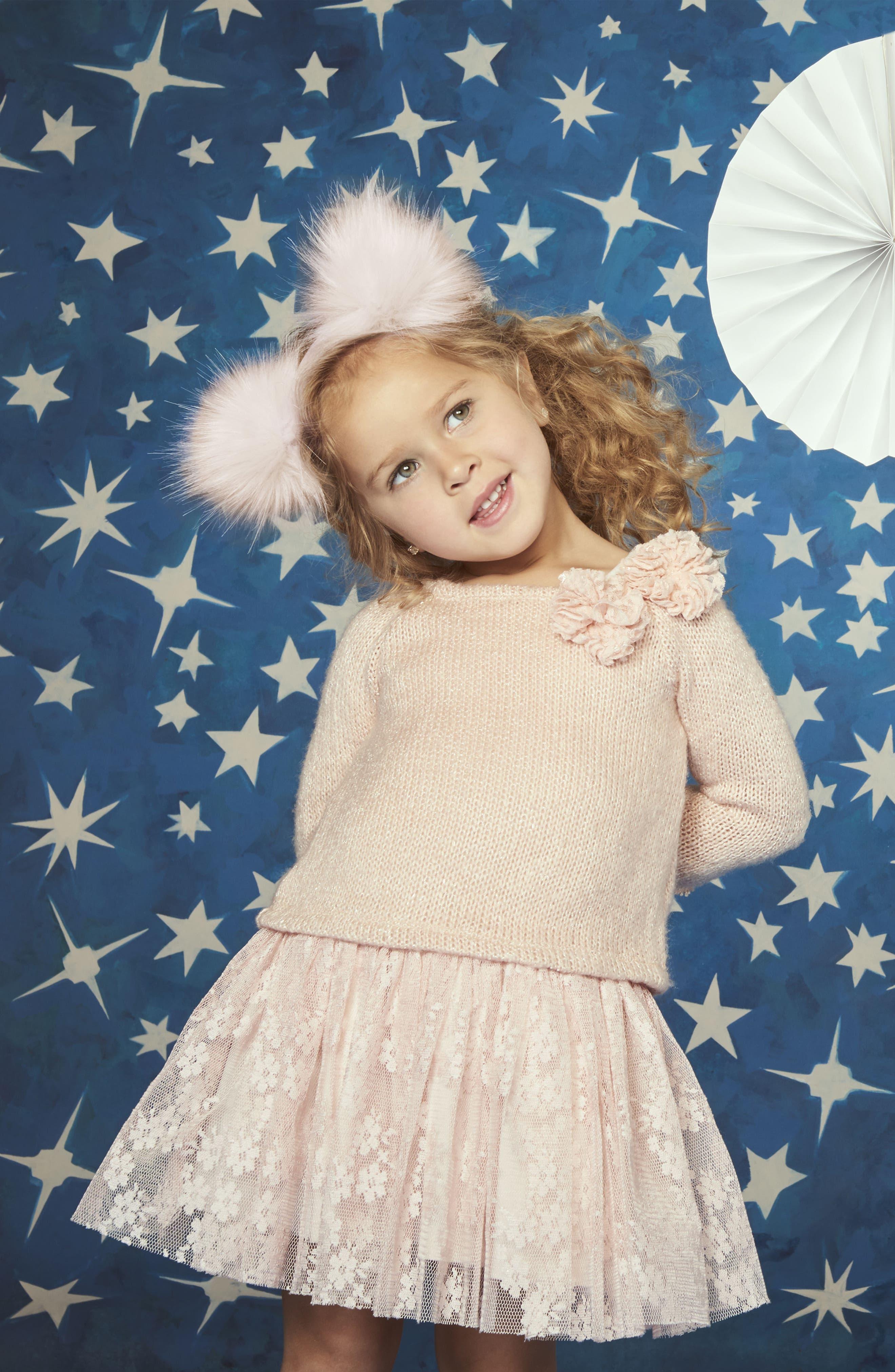 Alternate Image 6  - Pippa & Julie Sweater & Lace Skirt Dress (Toddler Girls, Little Girls & Big Girls)