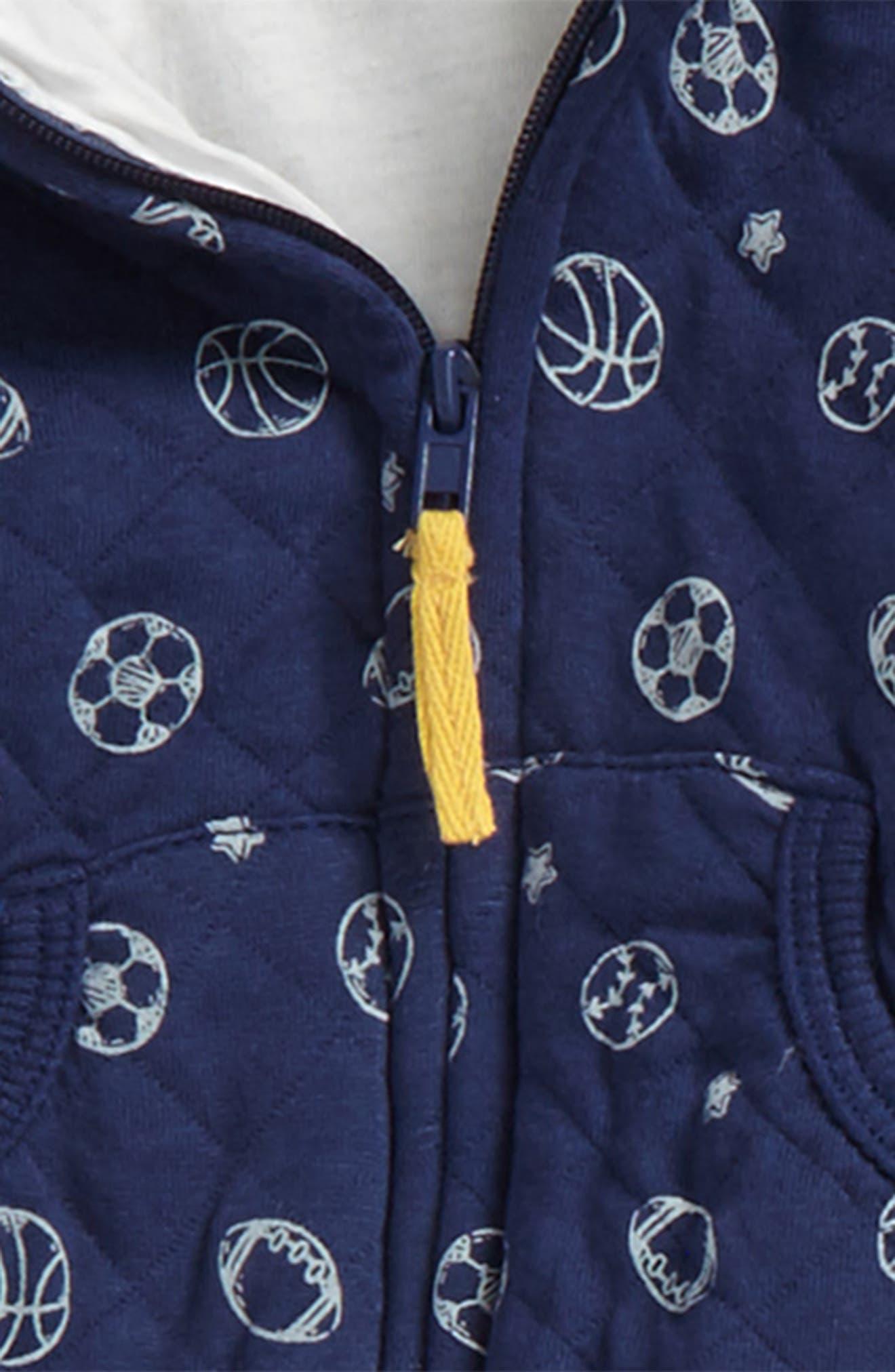 Alternate Image 2  - Little Me Sport Hoodie, Bodysuit & Pants Set (Baby Boys)