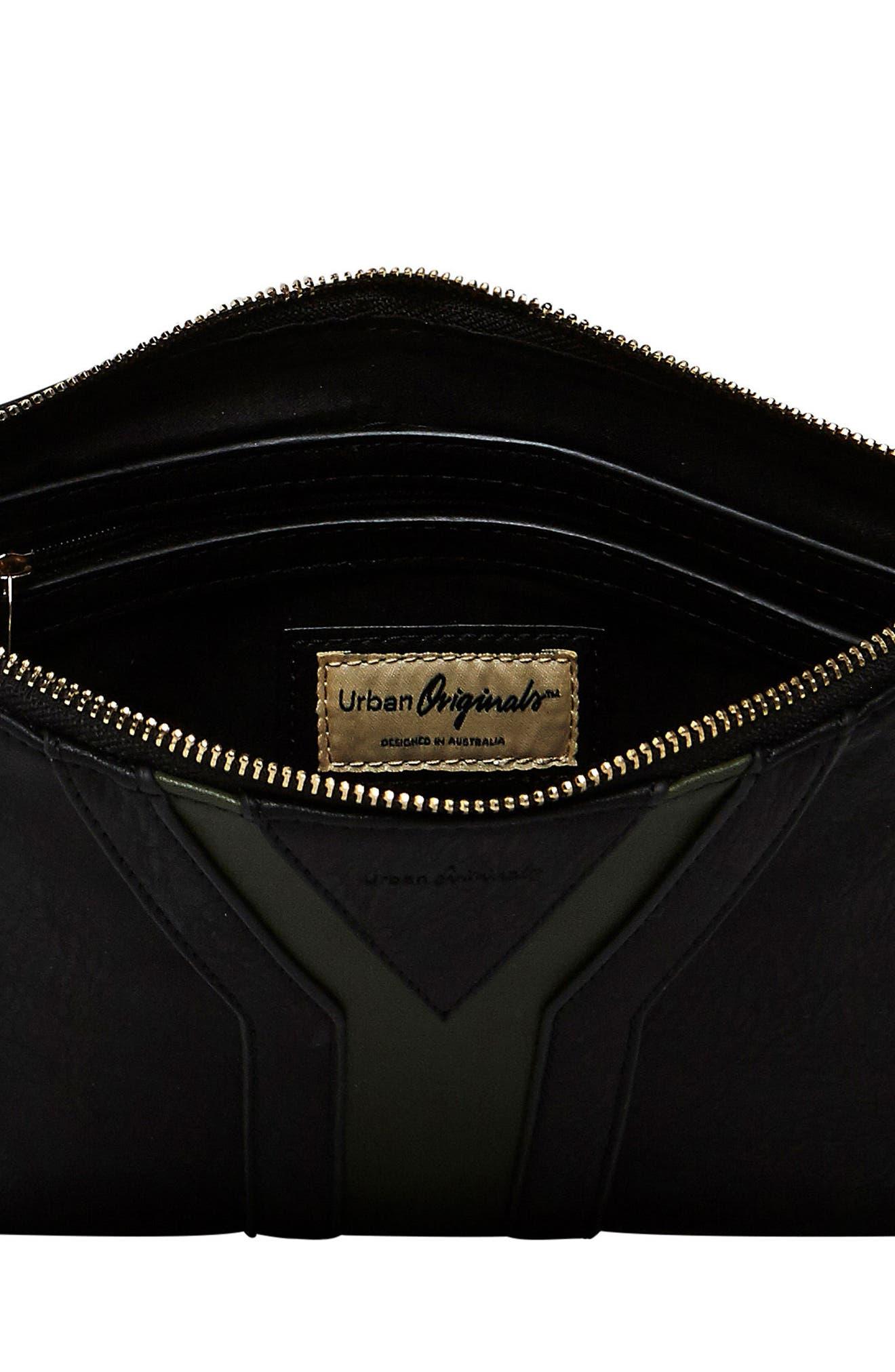 Alternate Image 2  - Urban Originals All She Wants Vegan Leather Clutch