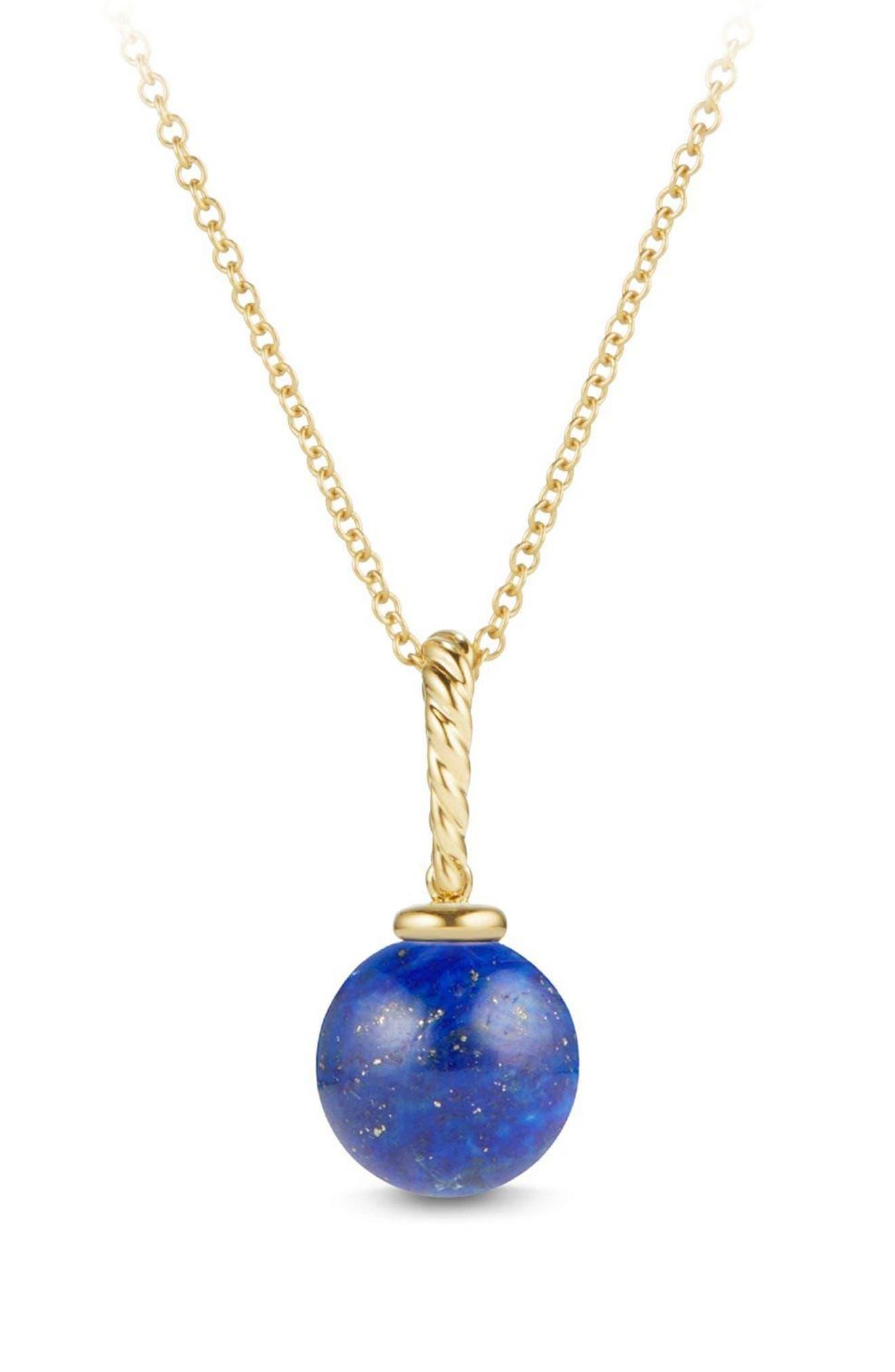 Alternate Image 1 Selected - David Yurman 'Solari' Pendant Necklace in 18K Gold