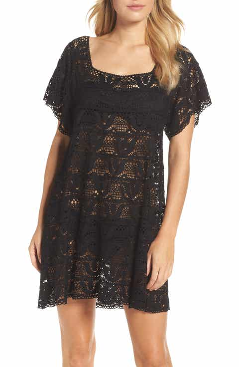 Nanette Lapore Crochet Cover-Up Dress