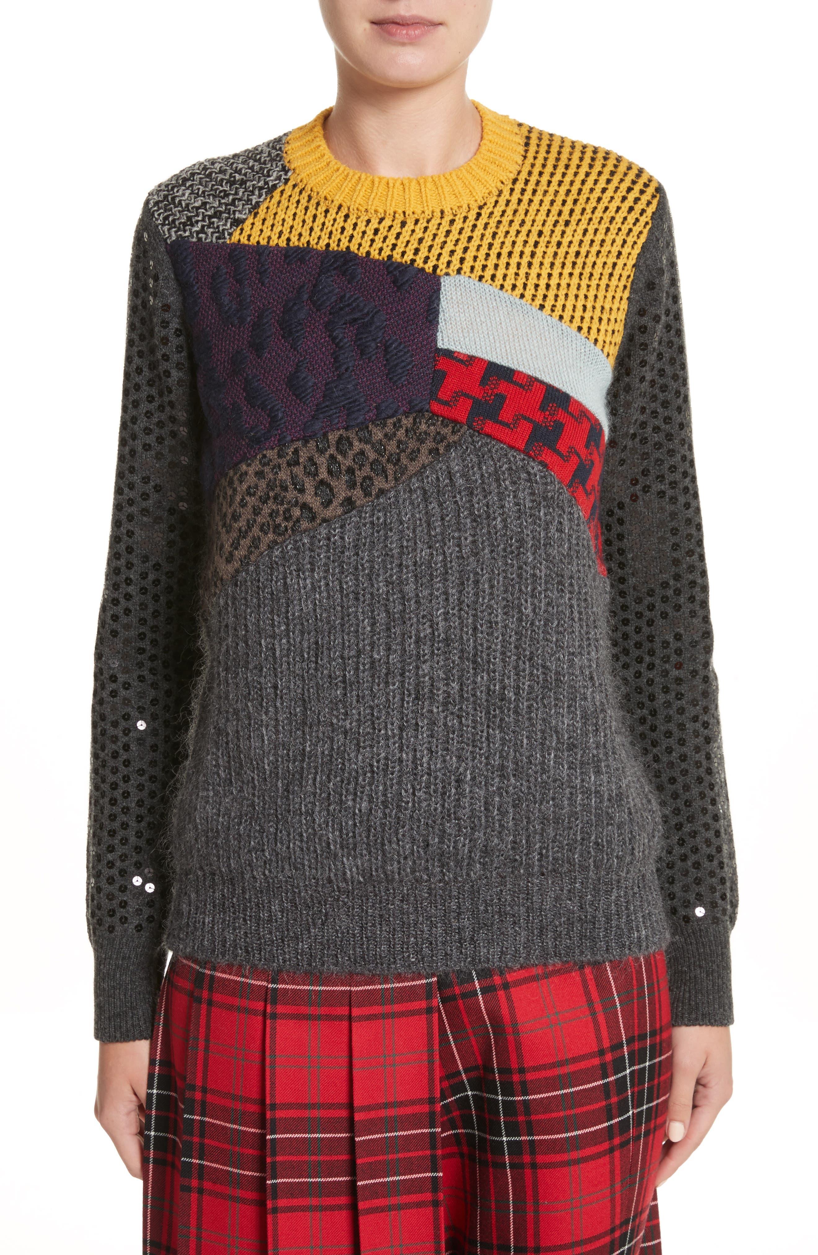 Alternate Image 1 Selected - Junya Watanabe Mixed Media Sweater