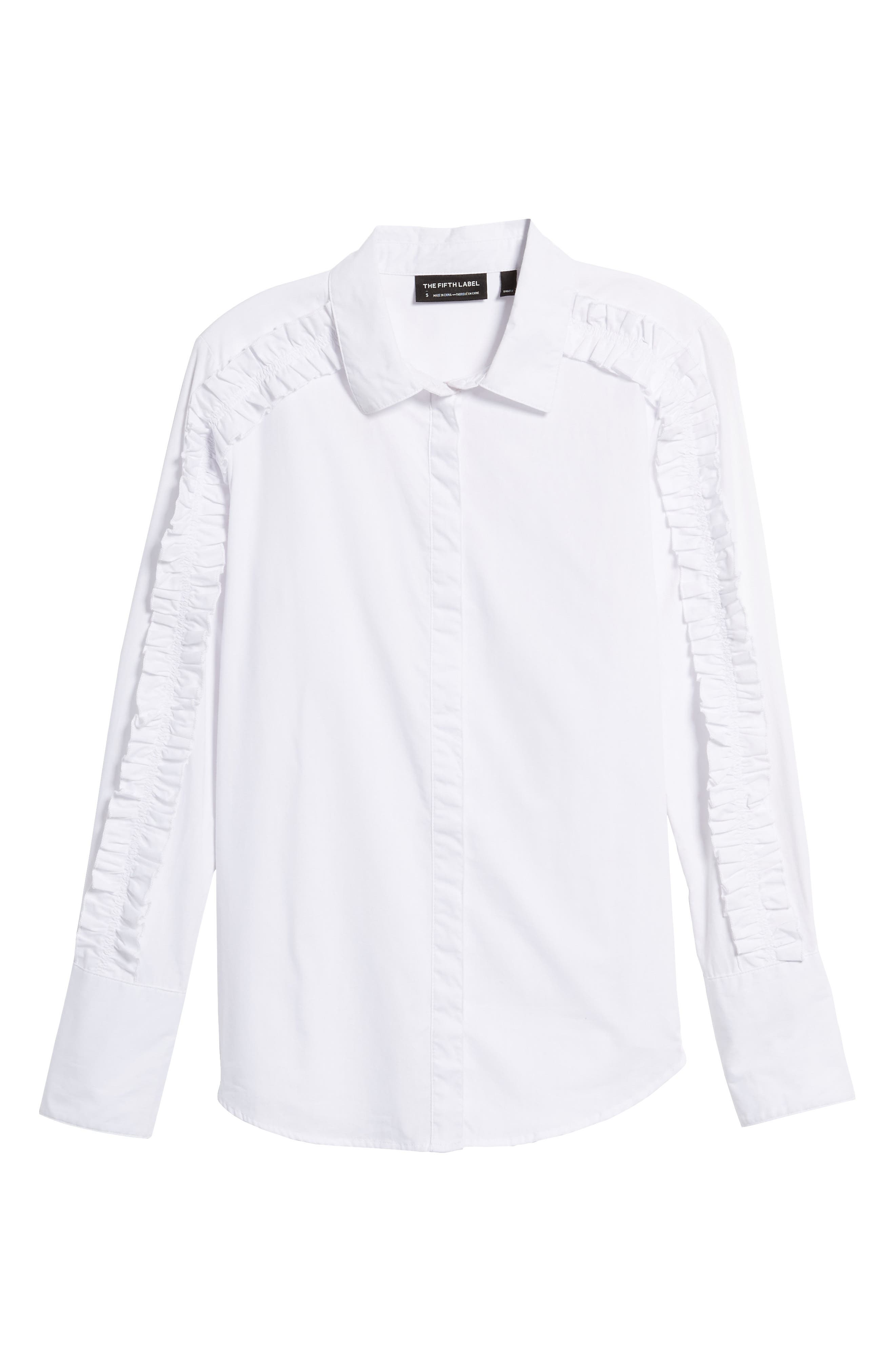 Alternate Image 6  - The Fifth Label Closer Ruffle Sleeve Button Down Shirt