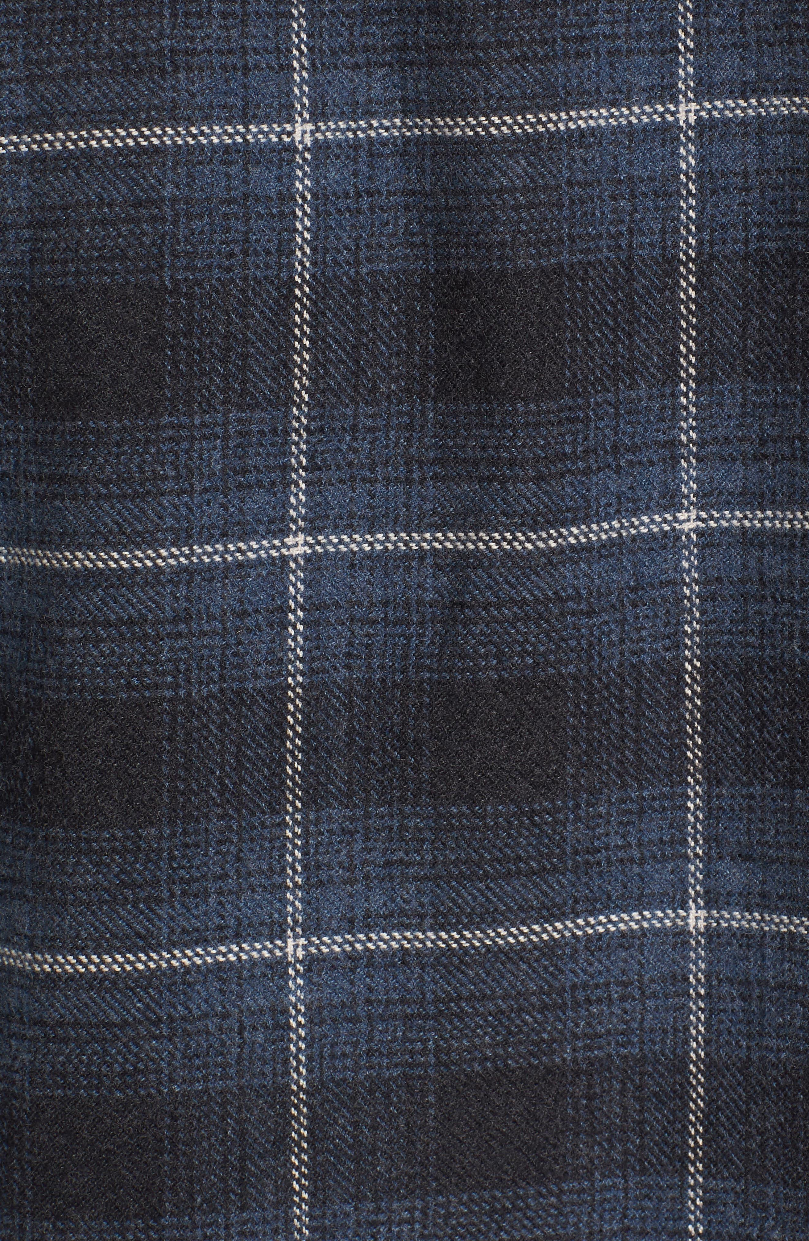 Clarke Heritage Flannel Shirt,                             Alternate thumbnail 5, color,                             Blue Charcoal