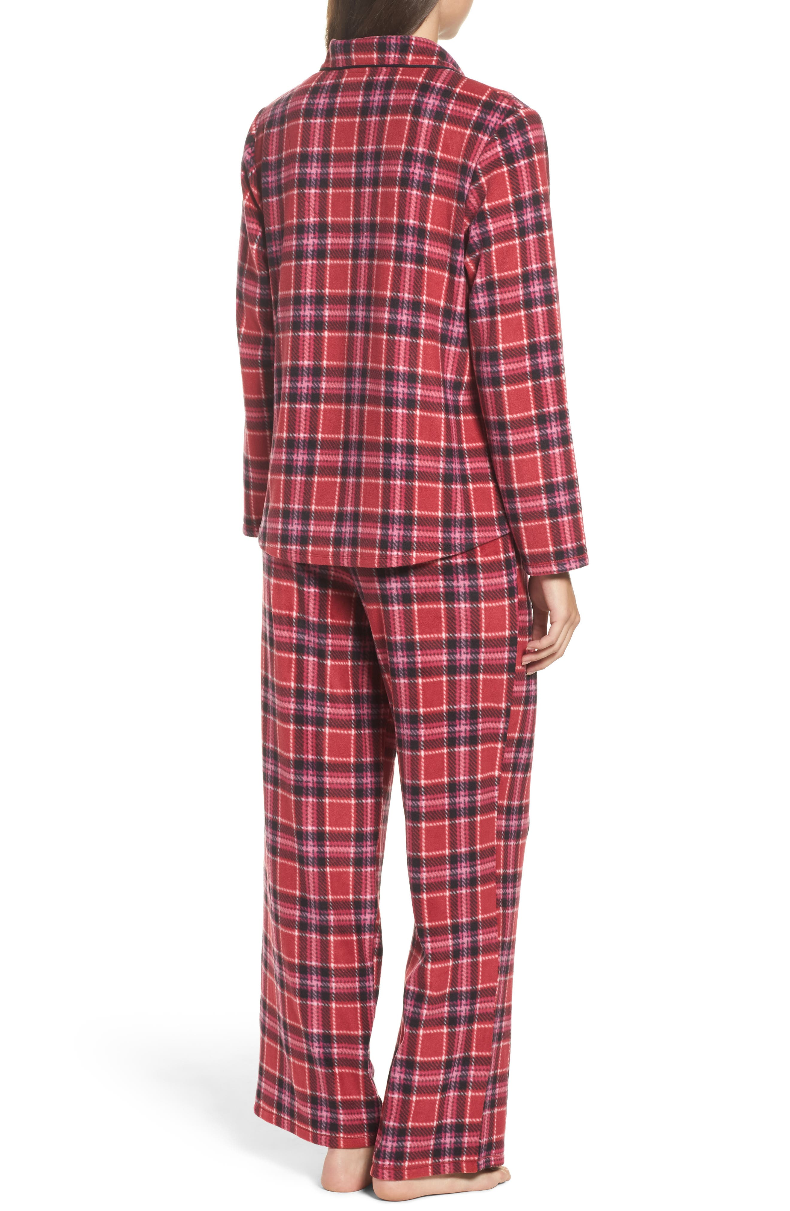 Alternate Image 2  - DKNY Stretch Fleece Long Pajamas