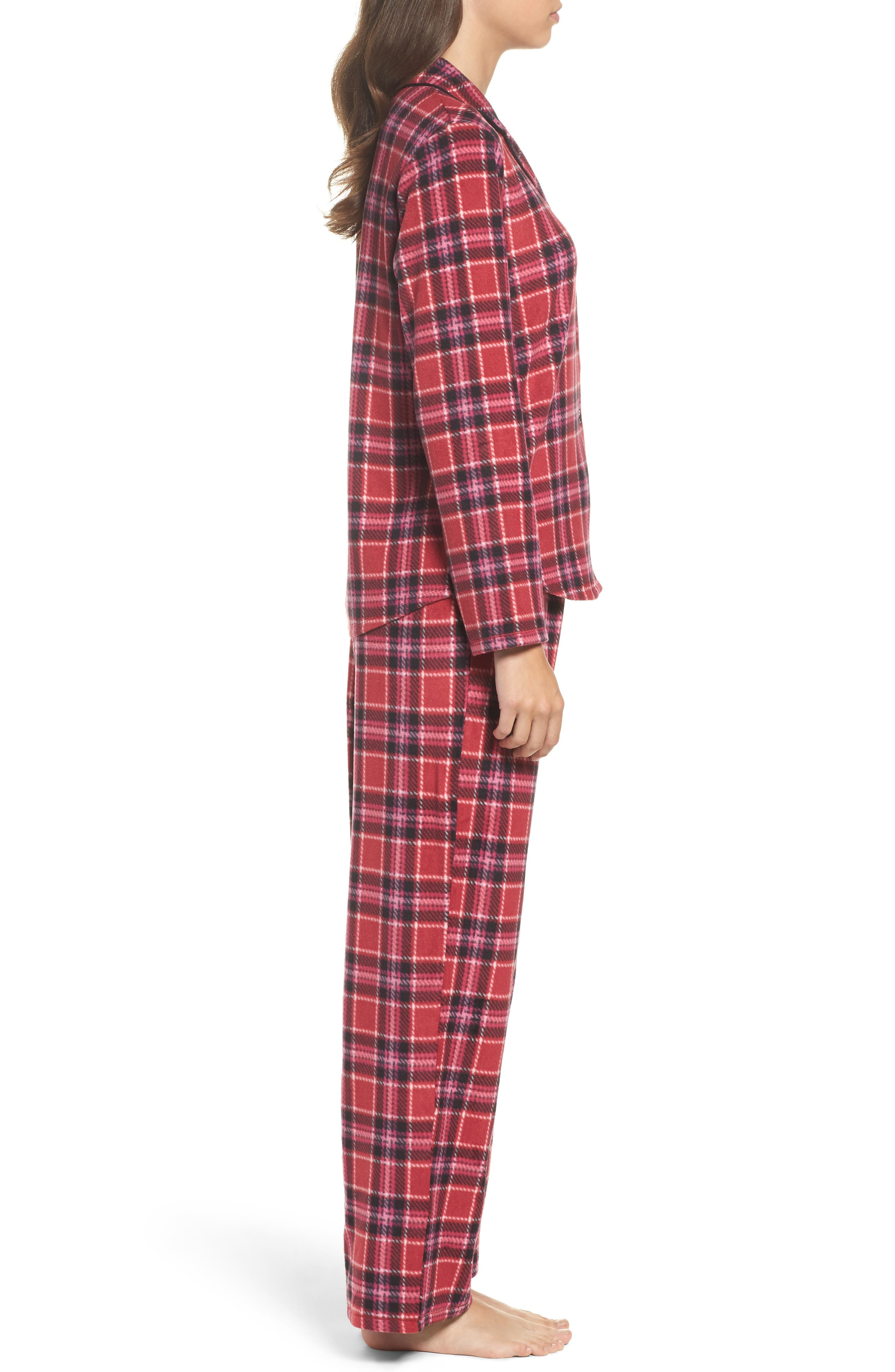 Alternate Image 3  - DKNY Stretch Fleece Long Pajamas