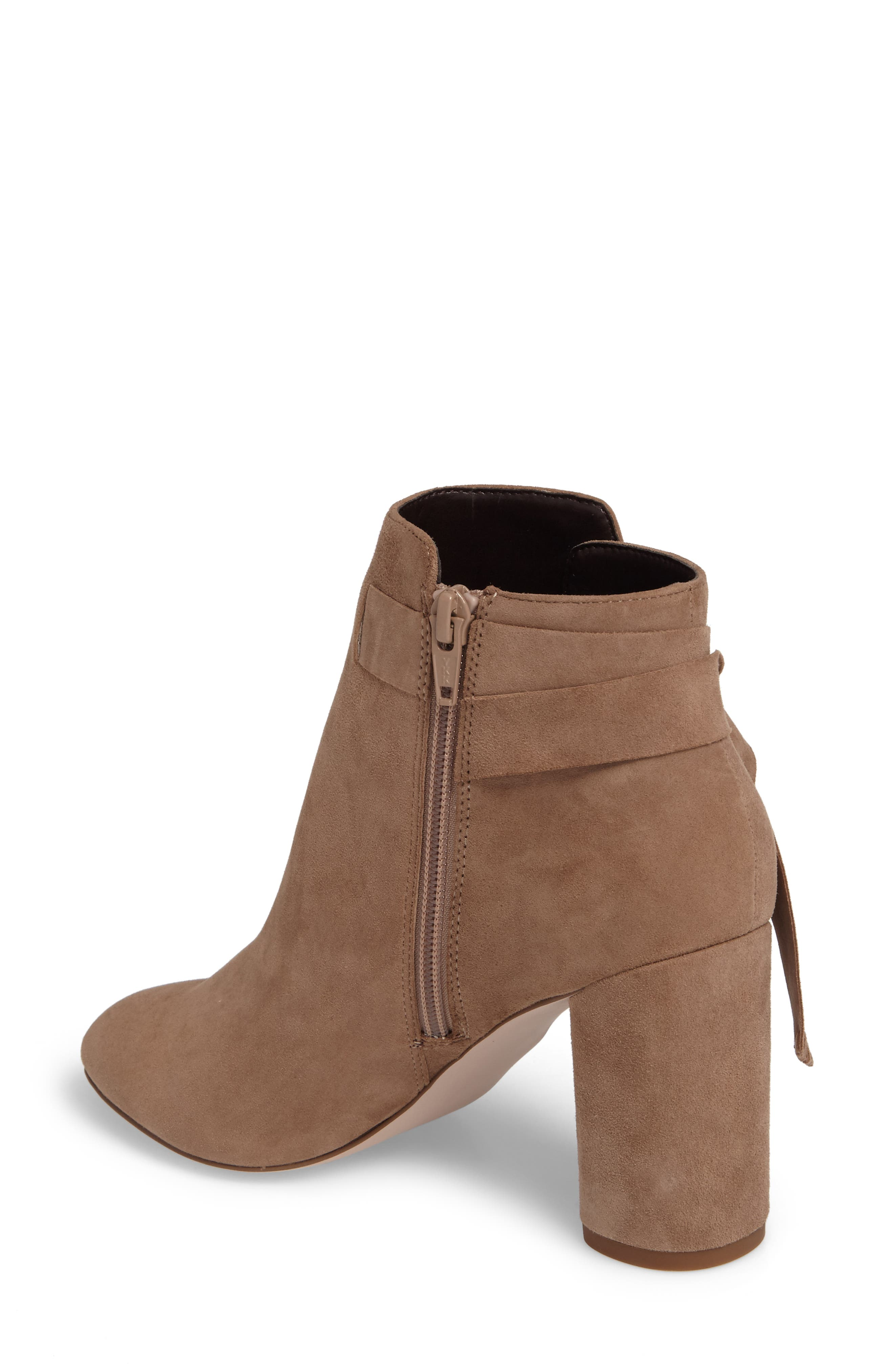 Zella Knotted Bootie,                             Alternate thumbnail 2, color,                             Taupe