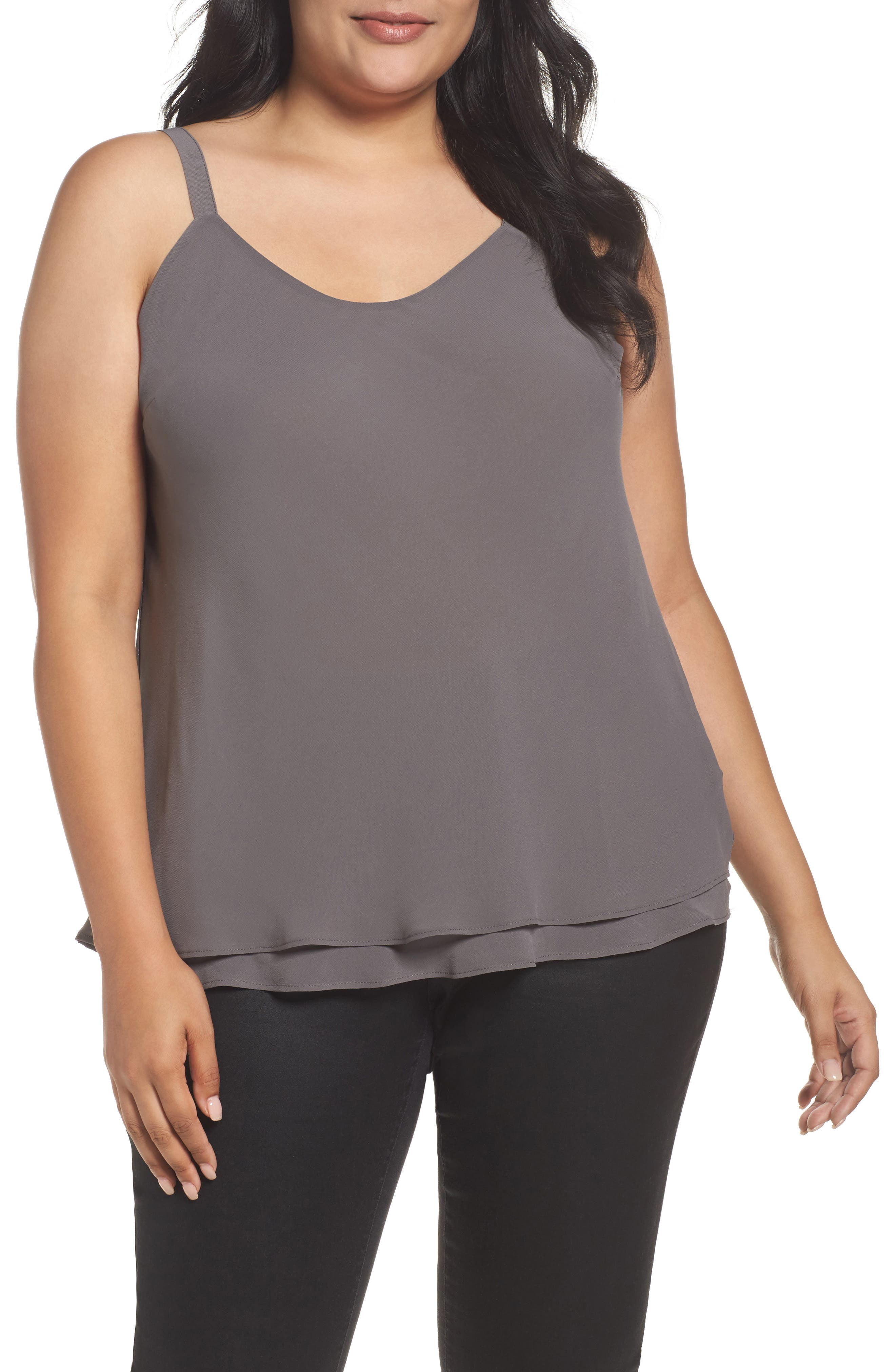Paired Up Tank,                         Main,                         color, Warm Grey