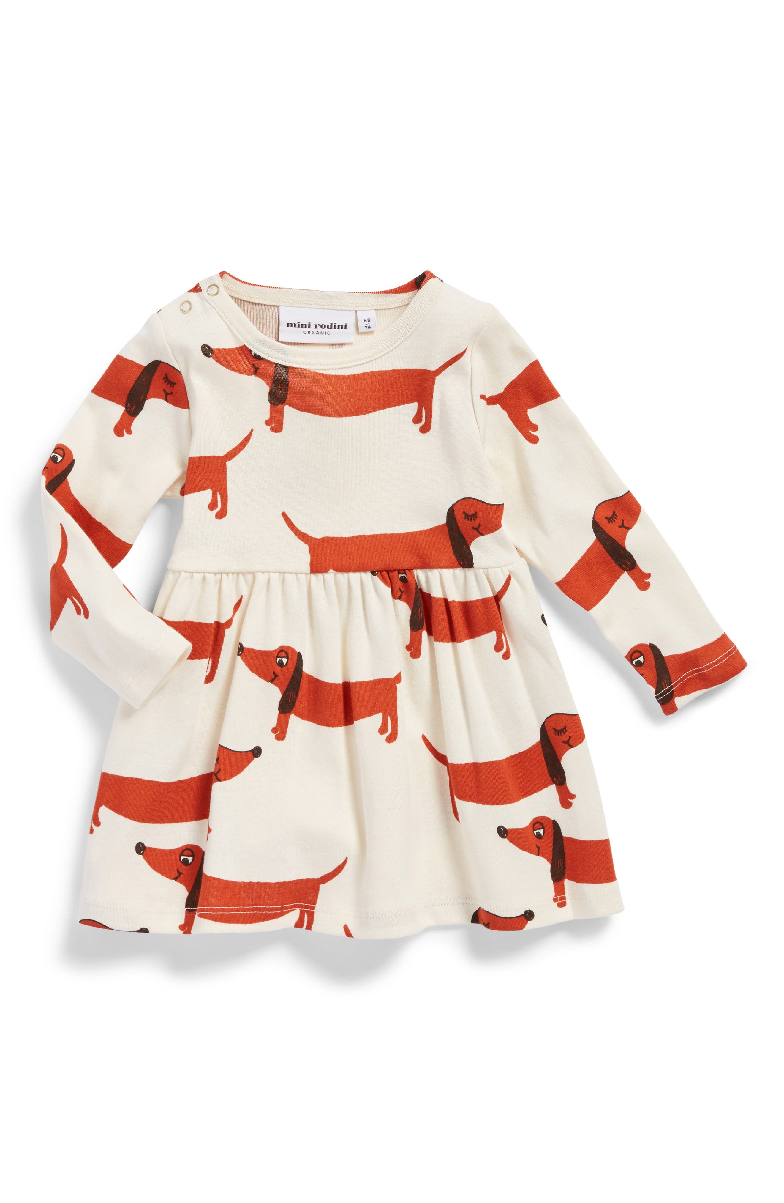 Mini Rodini Dogs Organic Cotton Dress (Baby Girls)