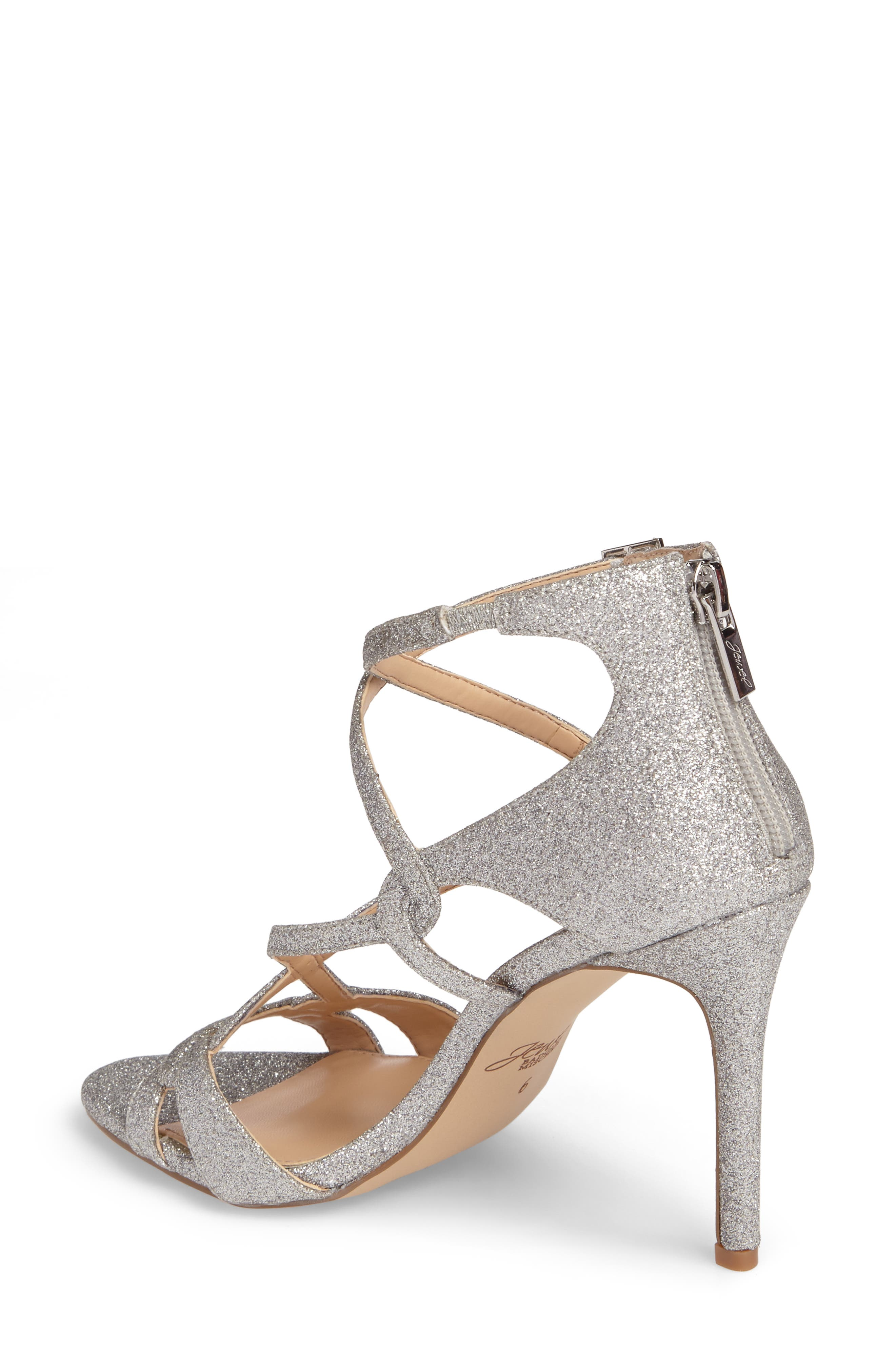 Alternate Image 2  - Jewel Badgley Mischka Aliza Strappy Glitter Sandal (Women)