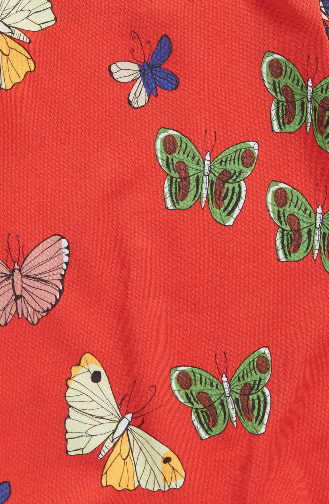 Alternate Image 3  - Mini Rodini Butterflies Peter Pan Collar Dress (Baby Girls)