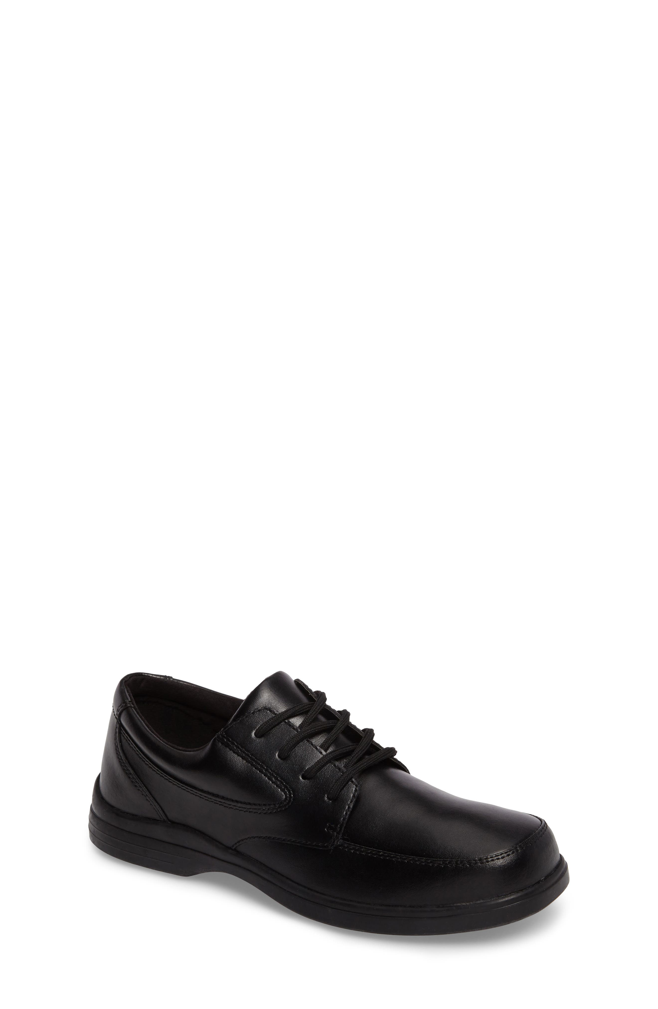 Ty Dress Shoe,                         Main,                         color, Black Leather