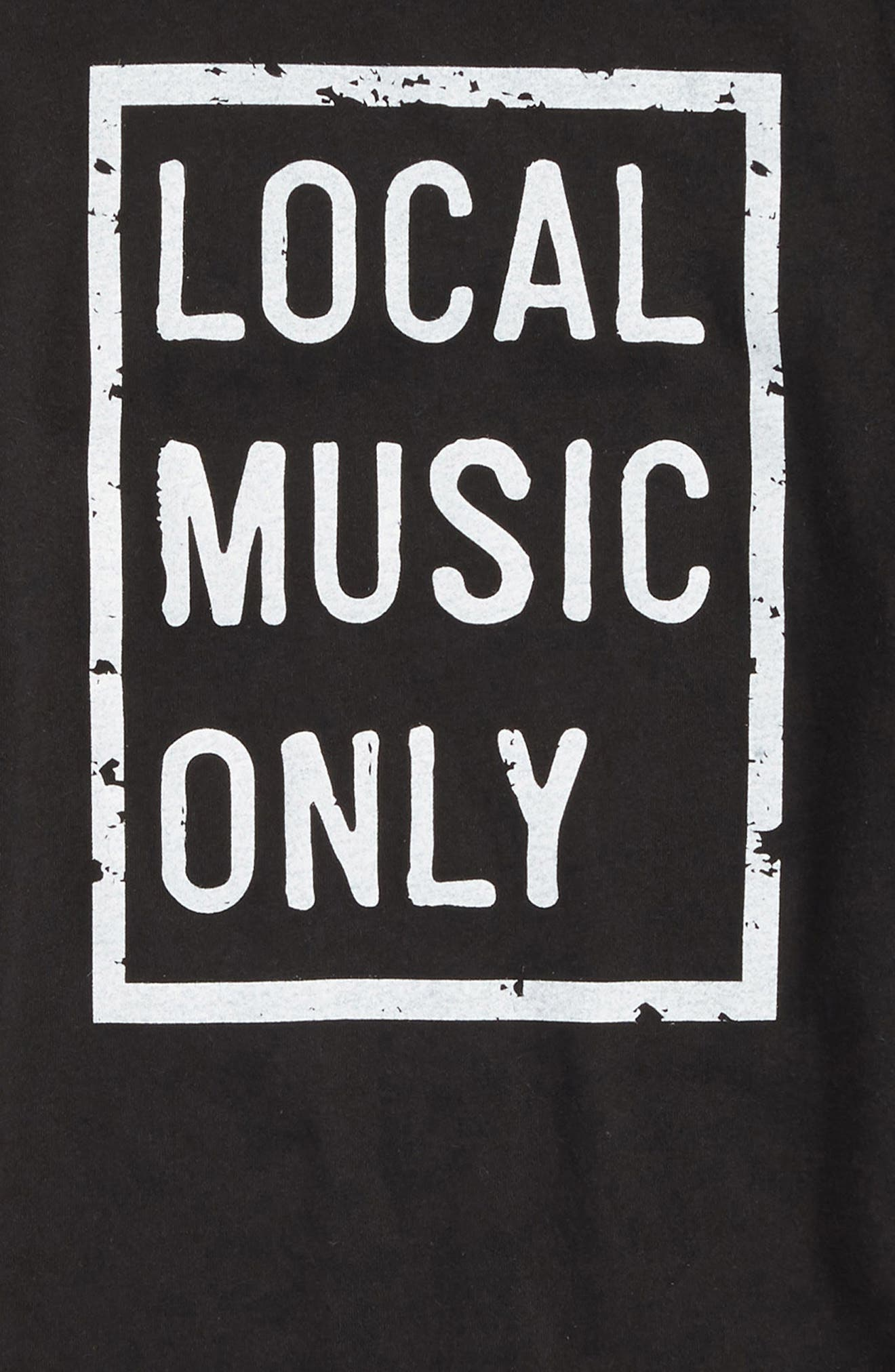 Local Music Only Graphic T-Shirt,                             Alternate thumbnail 2, color,                             Vintage Black