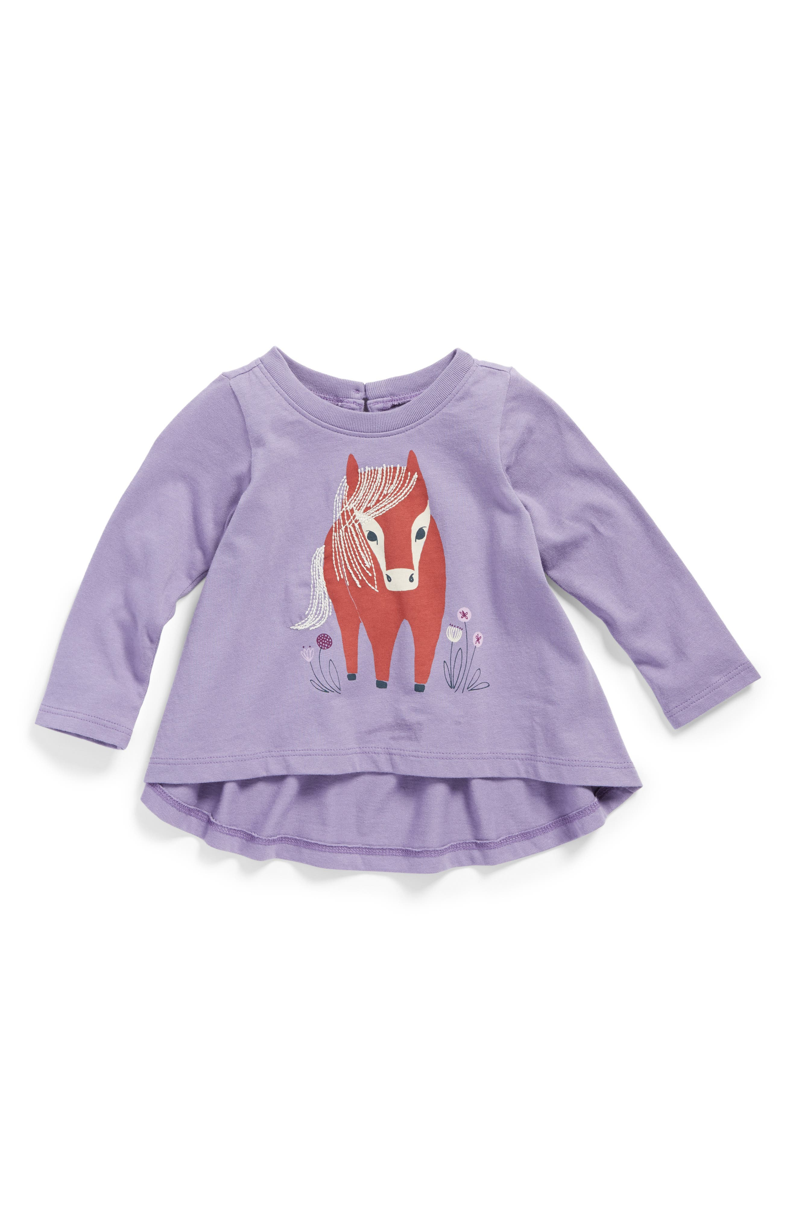 Alternate Image 1 Selected - Tea Collection Ponaidh Graphic Print Twirl Top (Baby Girls)