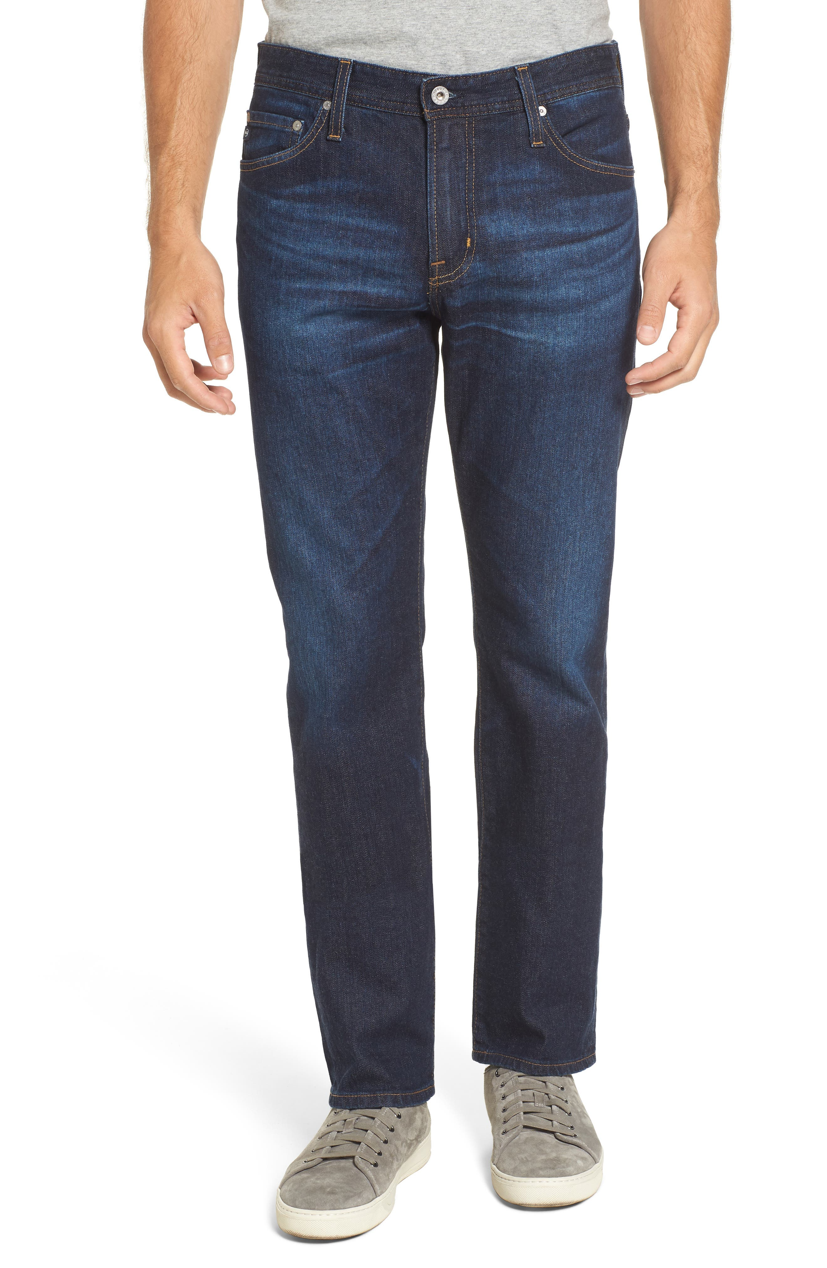 Everett Slim Straight Leg Jeans,                             Main thumbnail 1, color,                             Obscure