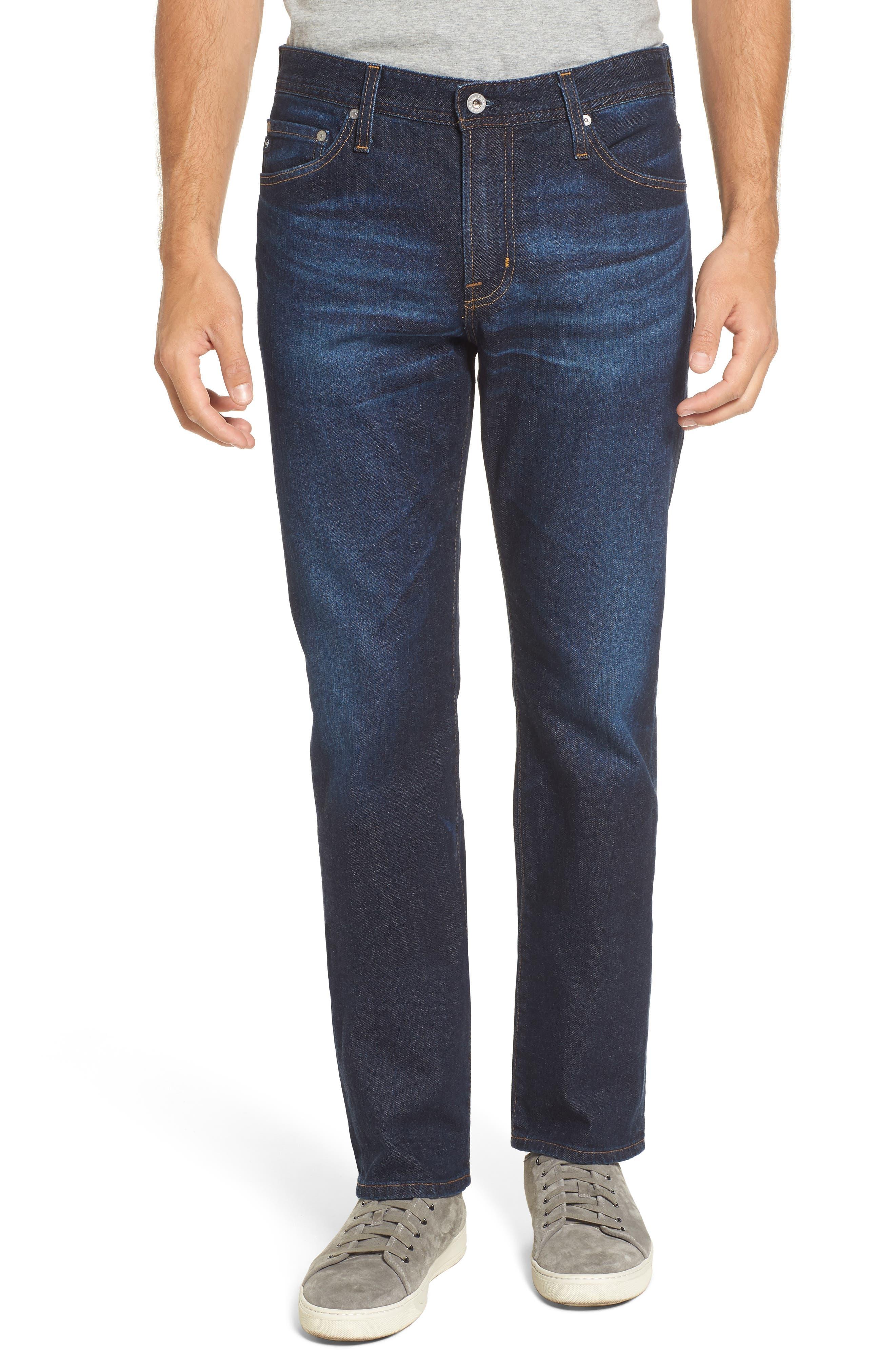 Main Image - AG Everett Slim Straight Leg Jeans (Obscure)