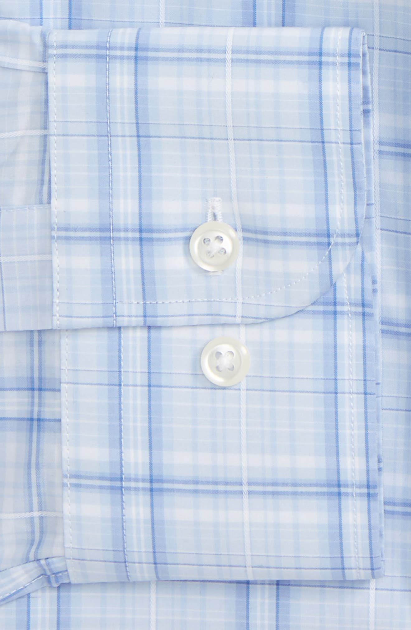Traditional Fit Plaid Dress Shirt,                             Alternate thumbnail 2, color,                             Blue Stork