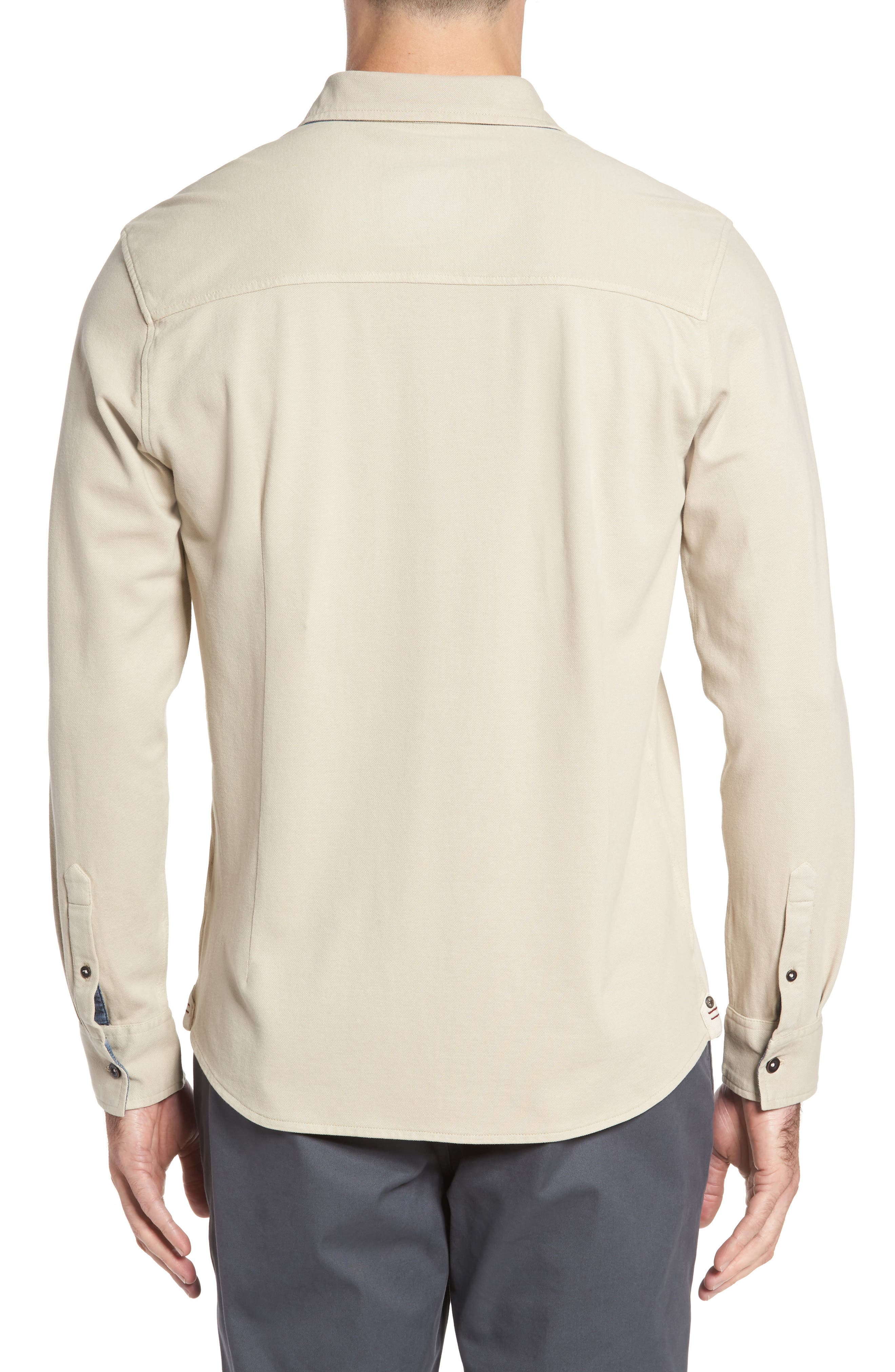 Alternate Image 2  - Thaddeus Shively Piqué Knit Sport Shirt