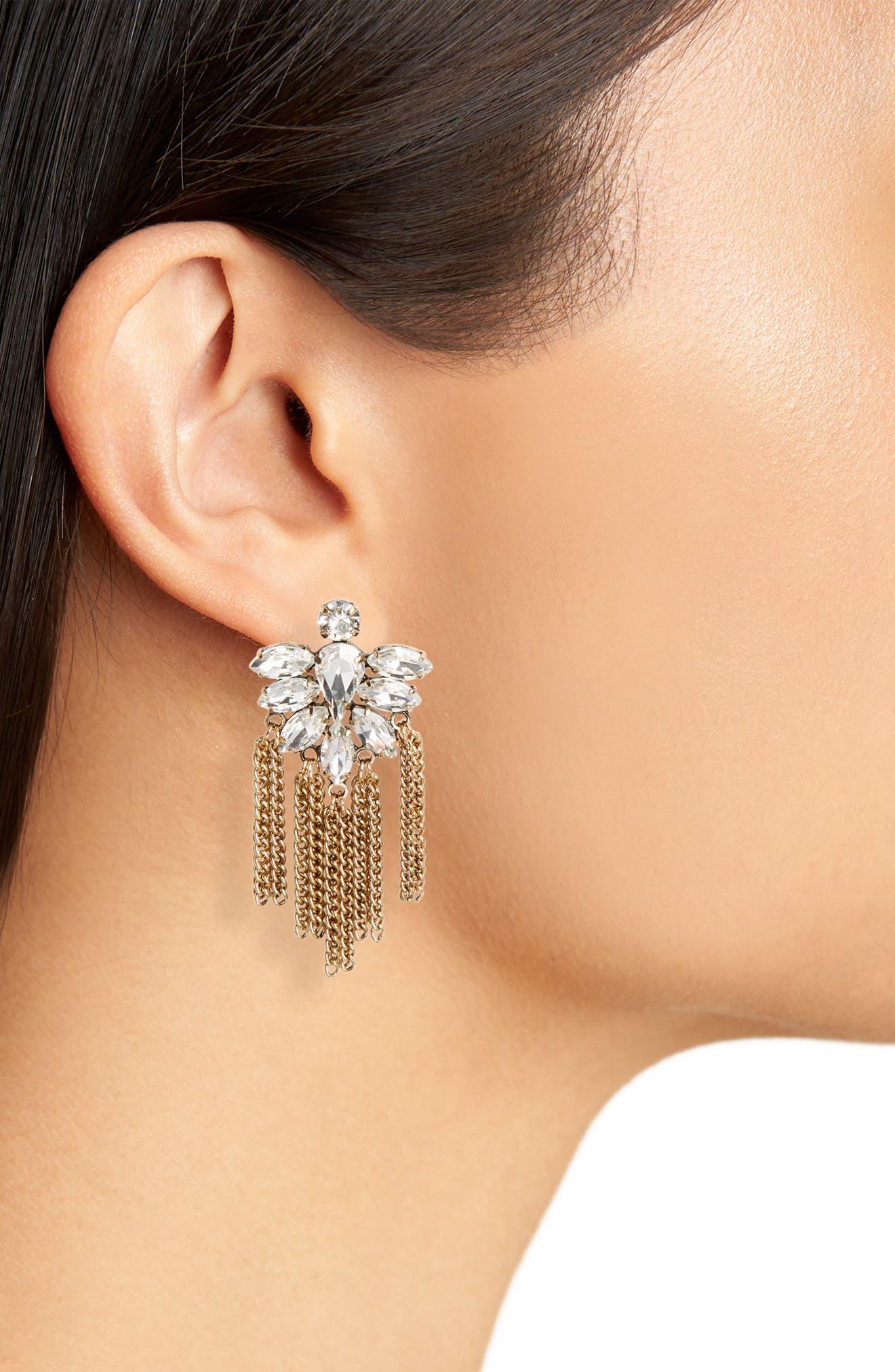 Alternate Image 2  - Cara Fringe Earrings