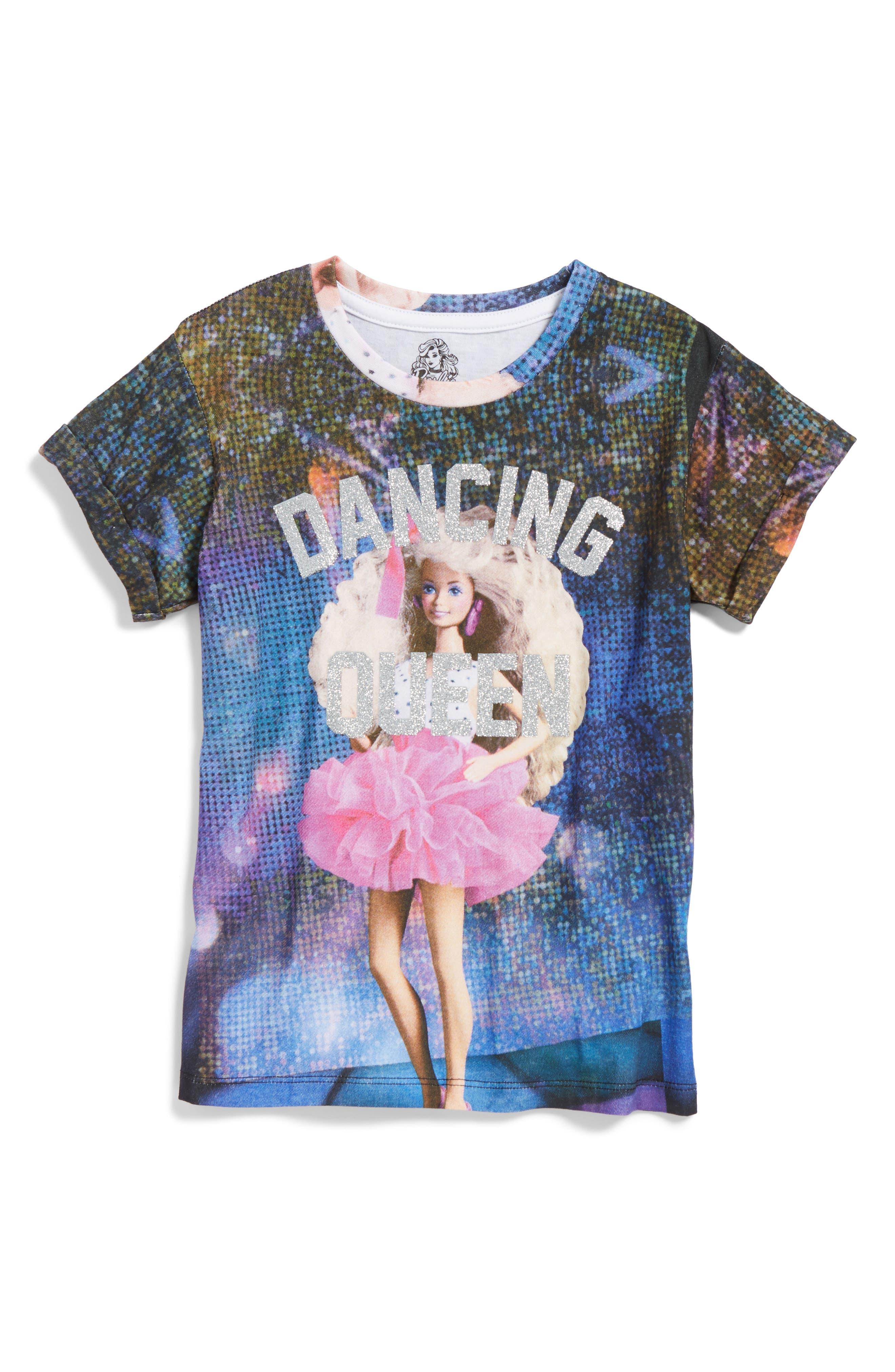 Dancing Queen Barbie<sup>®</sup> Tee,                         Main,                         color, Multi