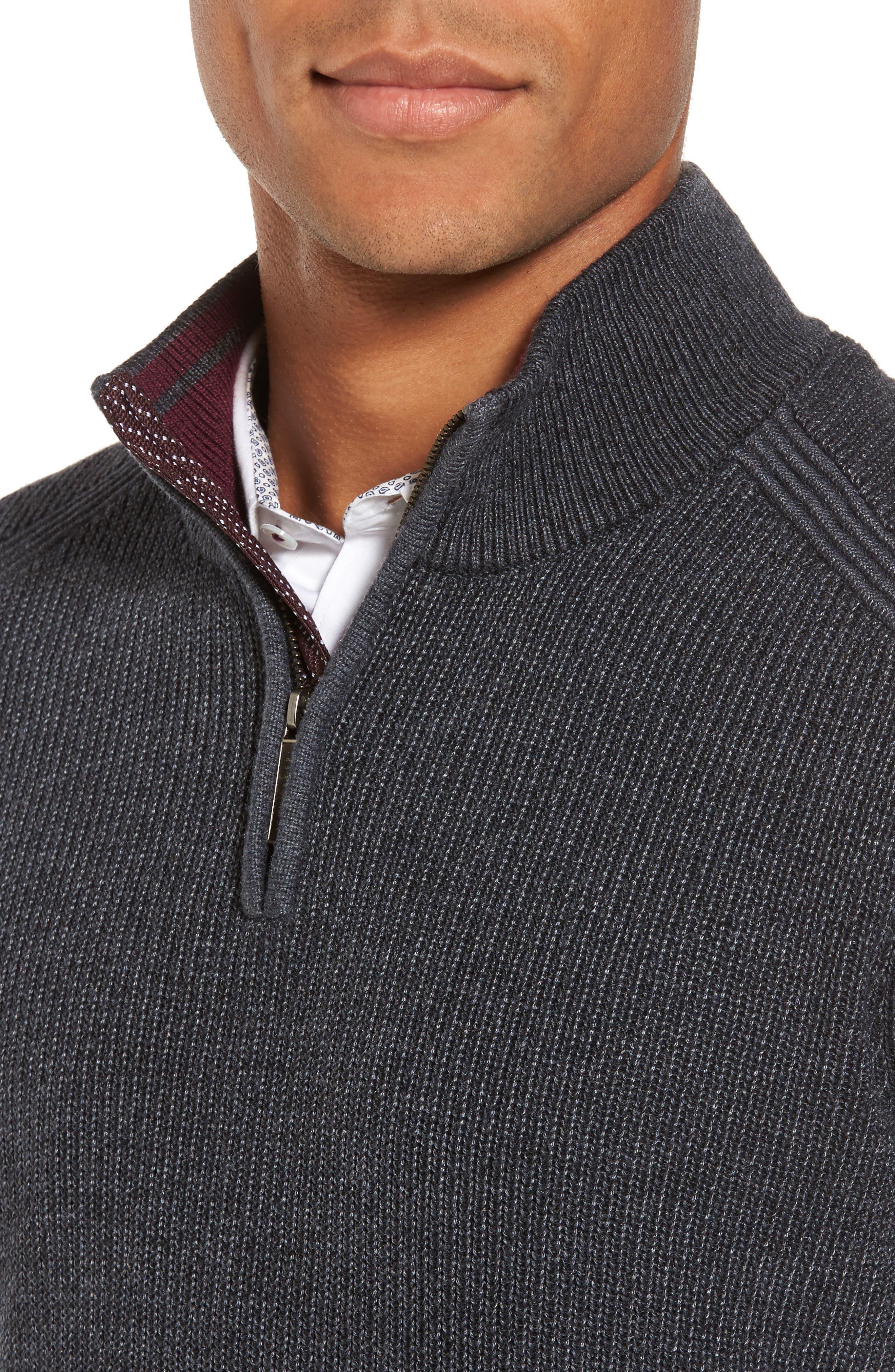 Alternate Image 4  - Ted Baker London Slim Fit Quarter Zip Sweater (Tall)