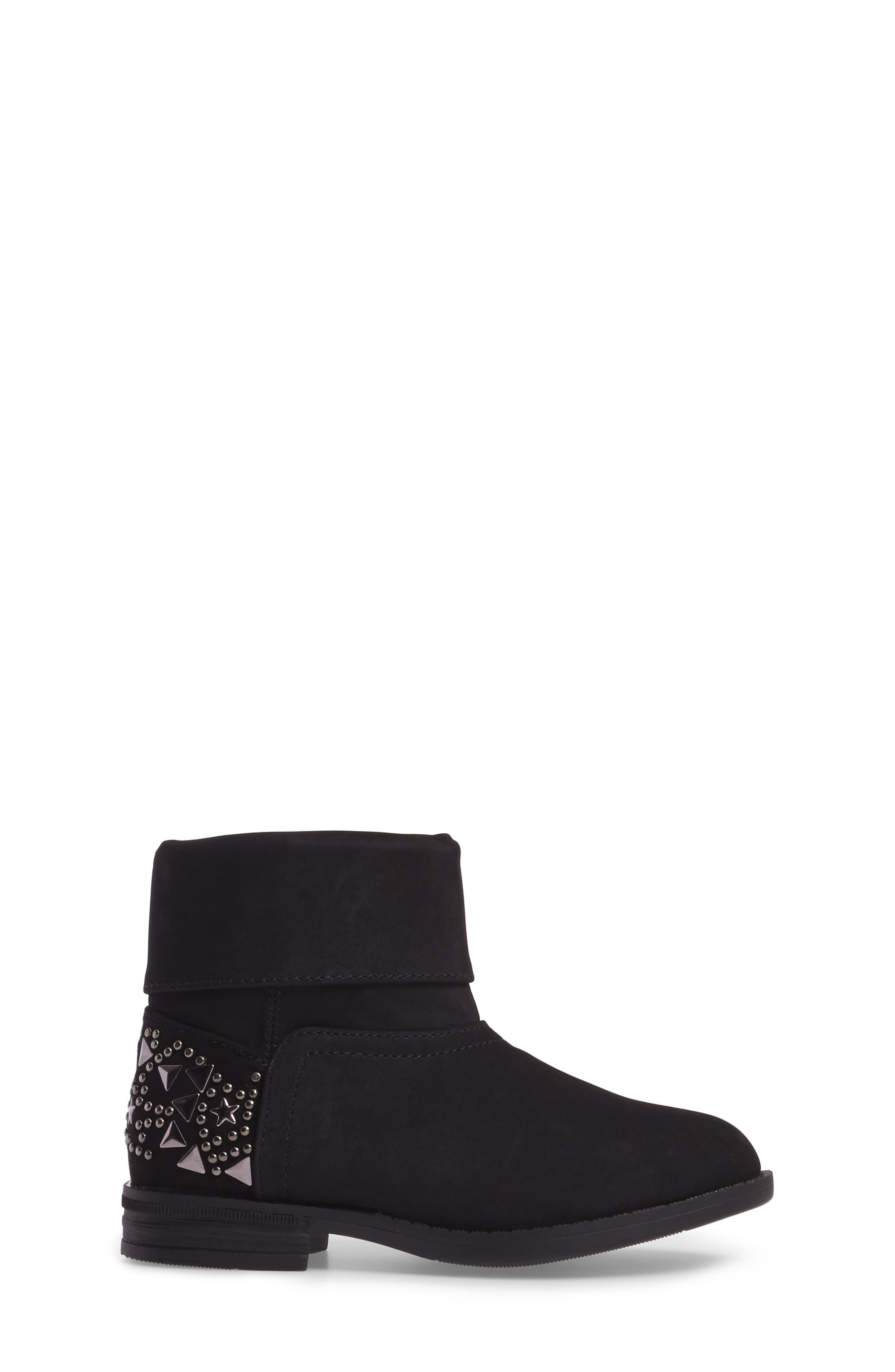 Wild Star Studded Bootie,                             Alternate thumbnail 3, color,                             Black