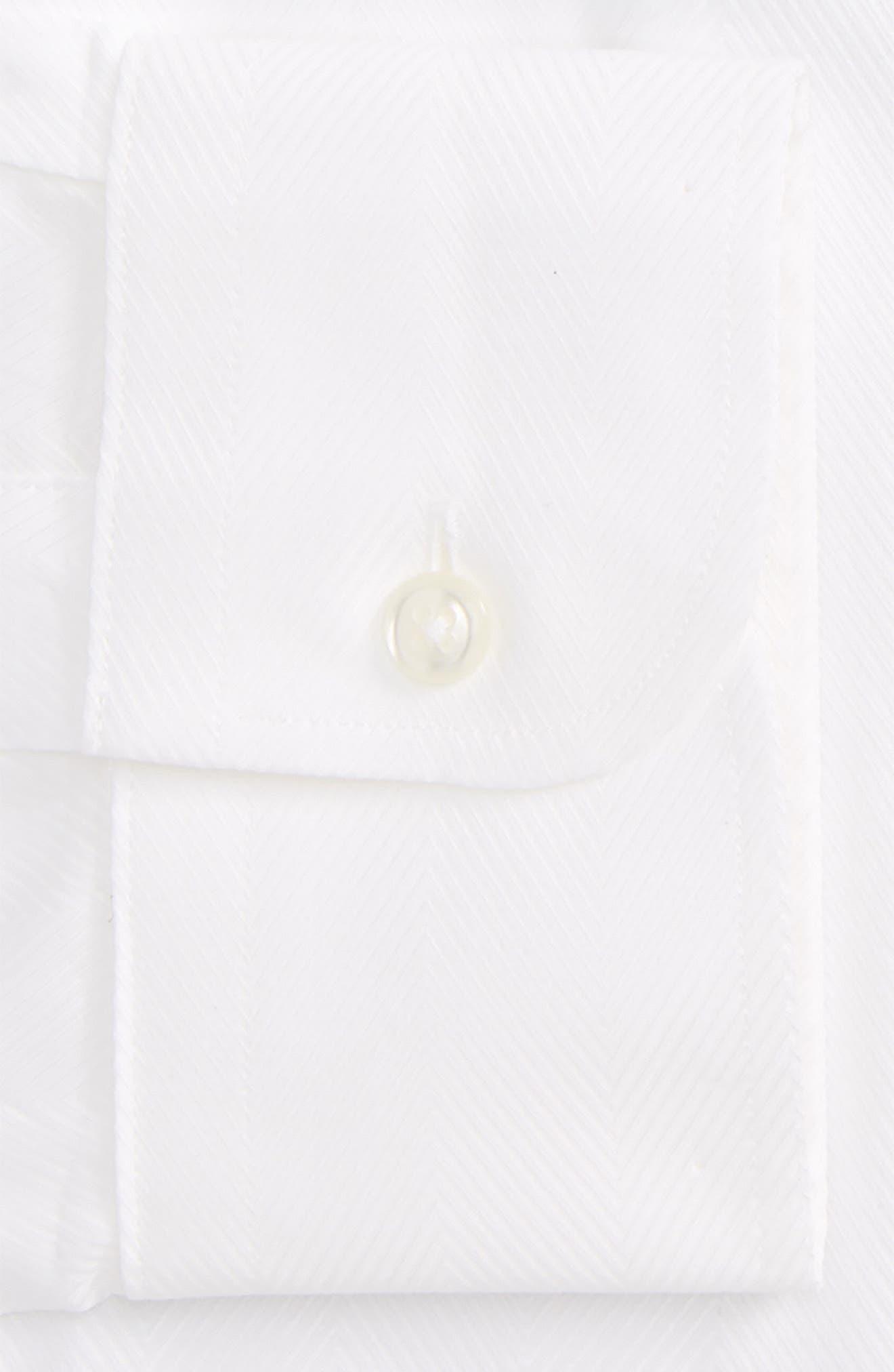 Alternate Image 6  - Nordstrom Men's Shop Classic Fit Herringbone Dress Shirt