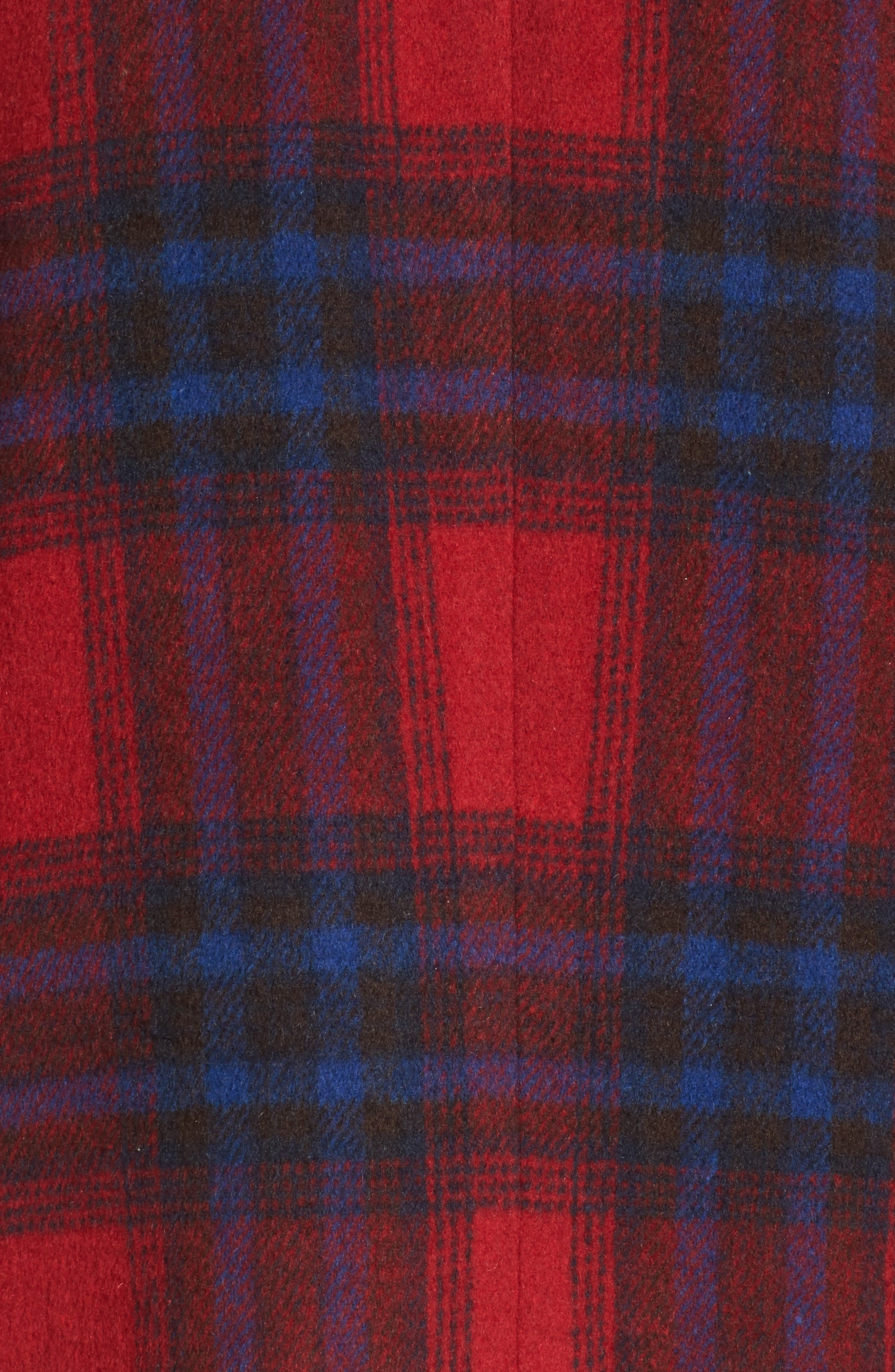 Alternate Image 6  - Leith Single Button Plaid Coat