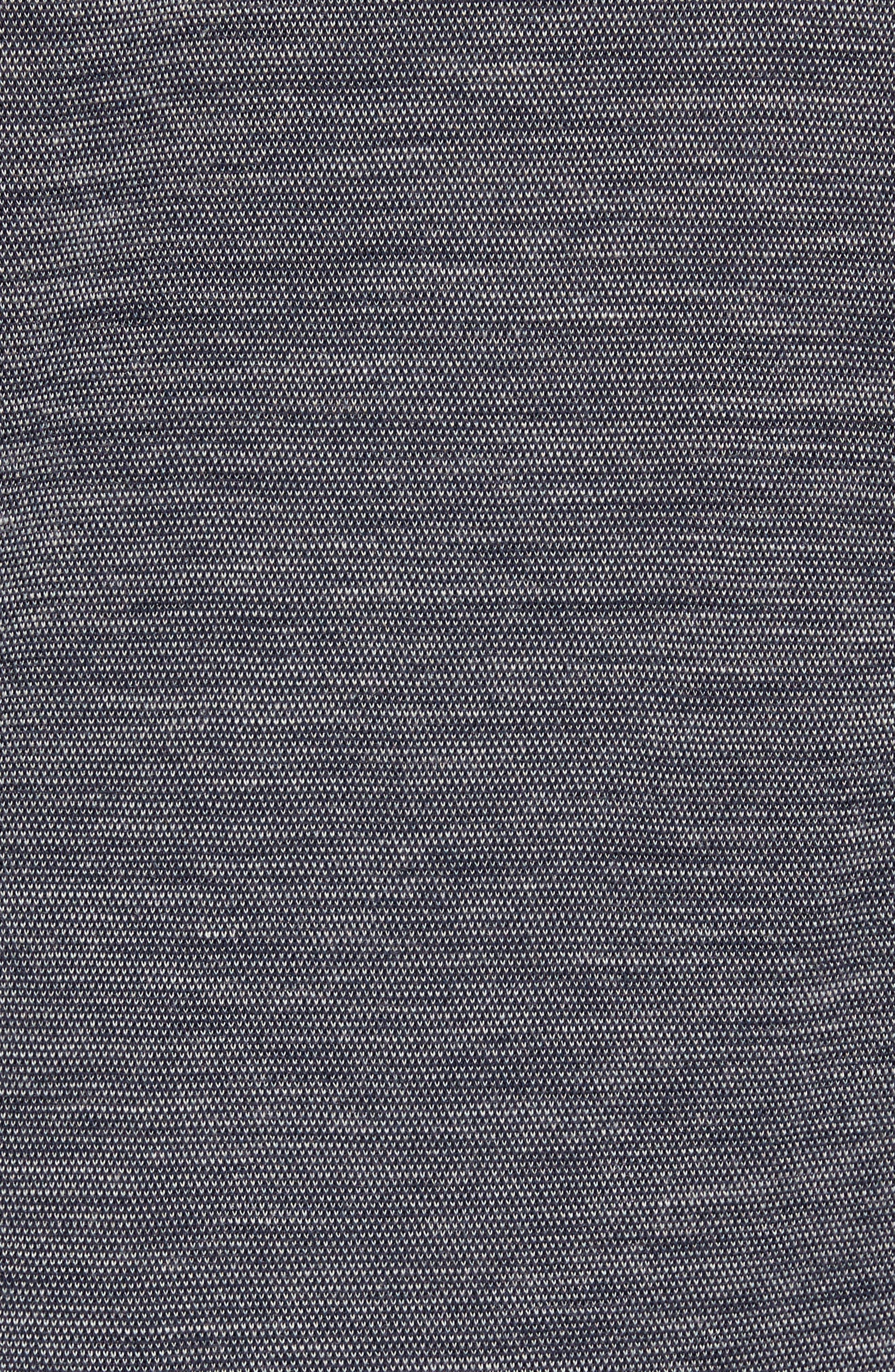 Merino 250 Base Layer Pattern Crewneck T-Shirt,                             Alternate thumbnail 5, color,                             Deep Navy