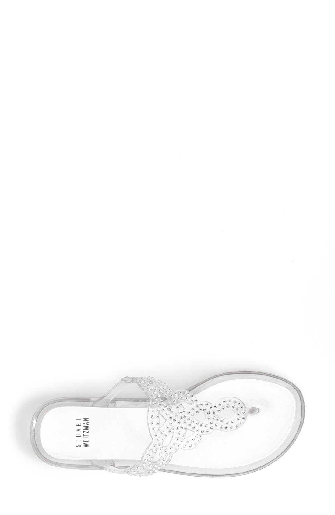Alternate Image 4  - Stuart Weitzman 'Mermaid' Crystal Embellished Jelly Sandal (Women)