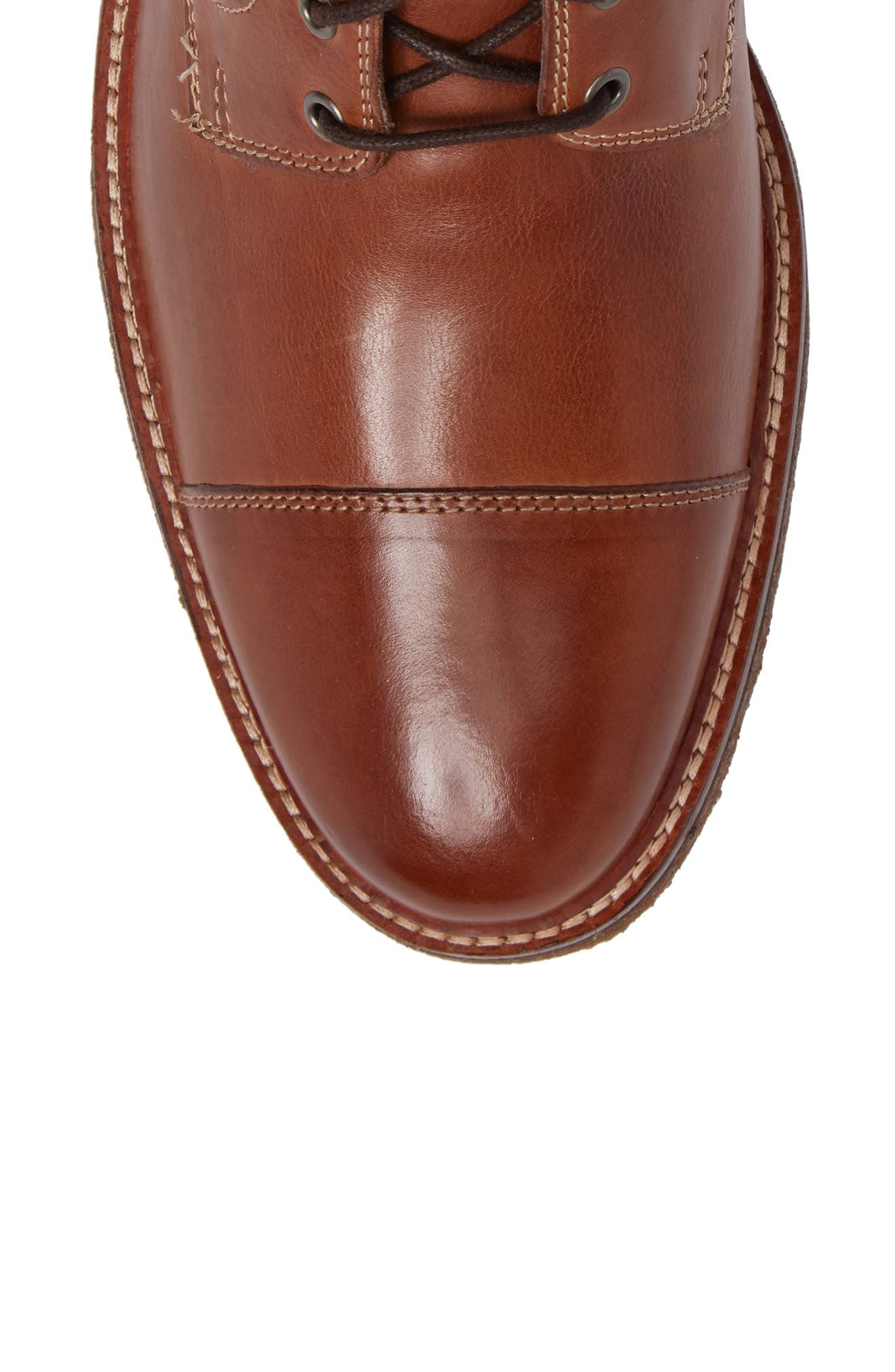 Forrester Cap Toe Boot,                             Alternate thumbnail 6, color,                             Tan Leather