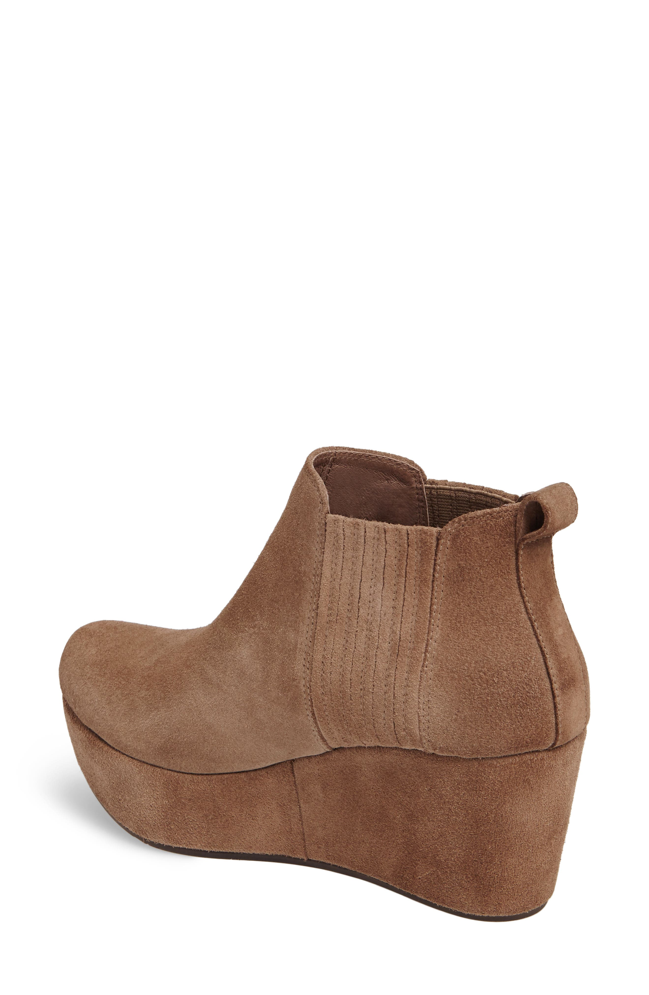 Walden Wedge Bootie,                             Alternate thumbnail 2, color,                             Taupe Suede